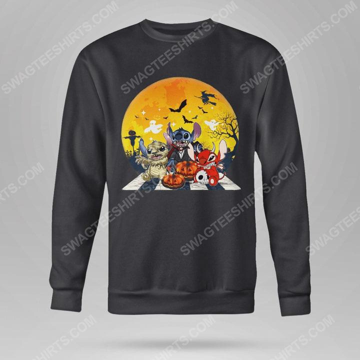 Halloween night stitch cosplay horror characters sweatshirt(1)