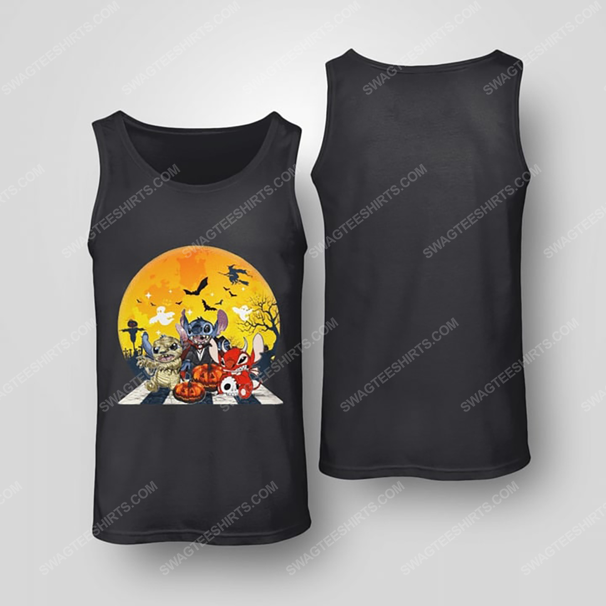 Halloween night stitch cosplay horror characters tank top(1)