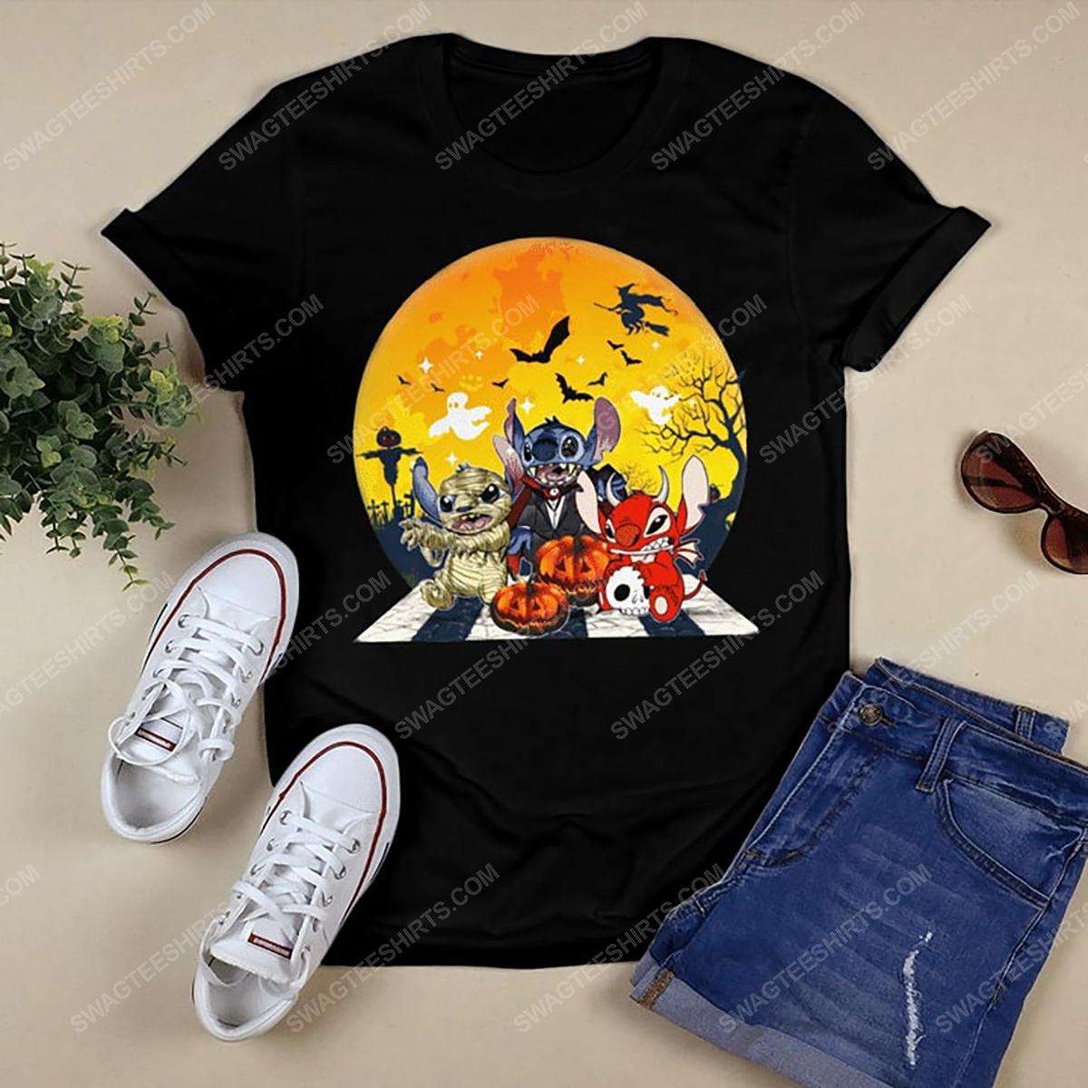 Halloween night stitch cosplay horror characters tshirt 1