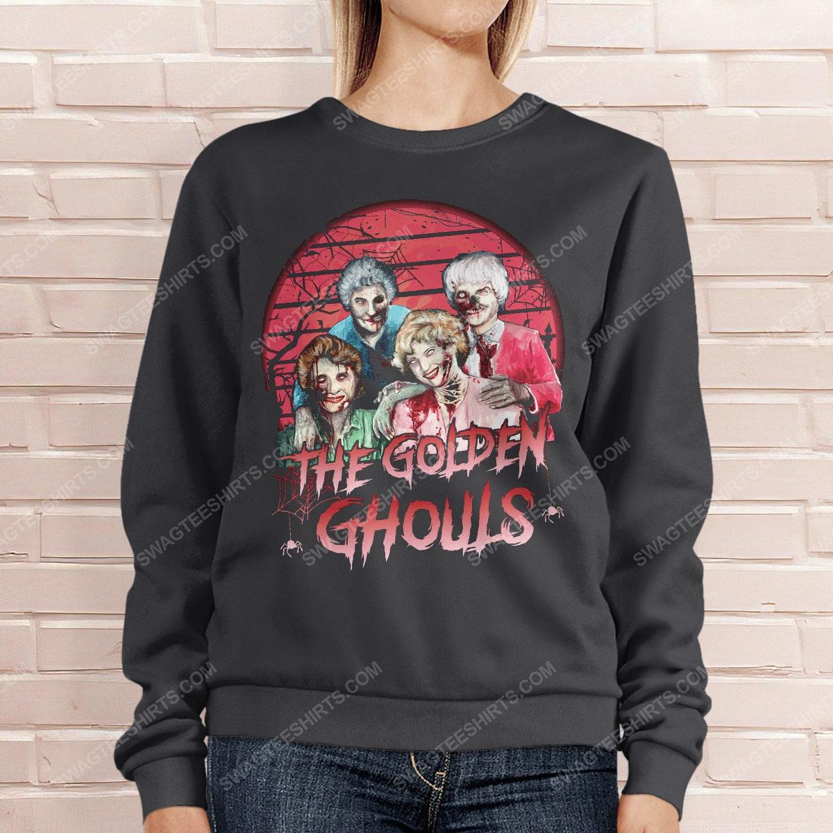 Halloween the golden ghouls the golden girls sweatshirt 1(1)