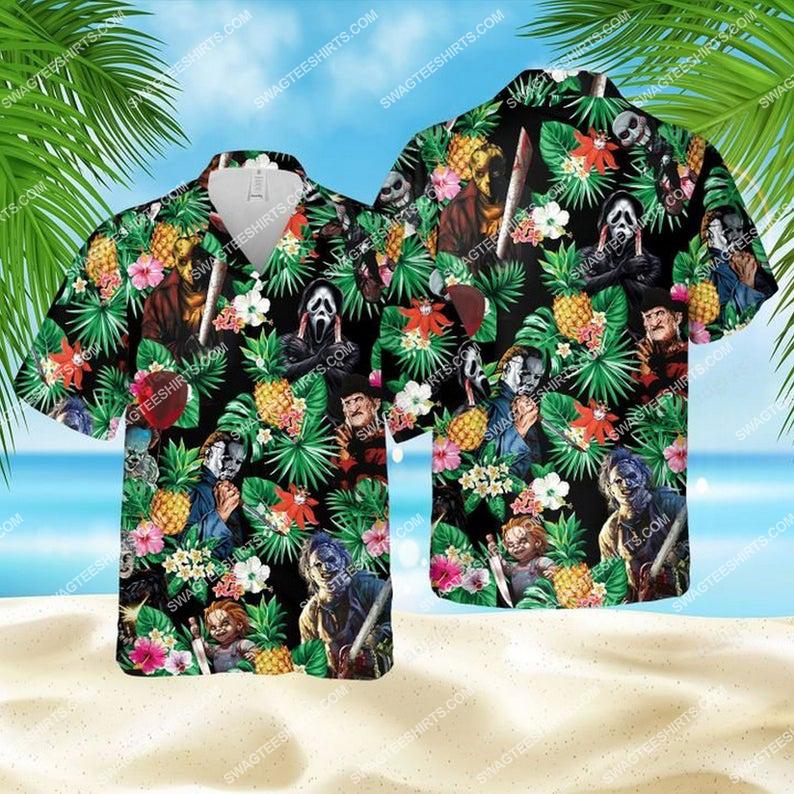 Horror characters halloween movie hawaiian shirt 1 - Copy (2)