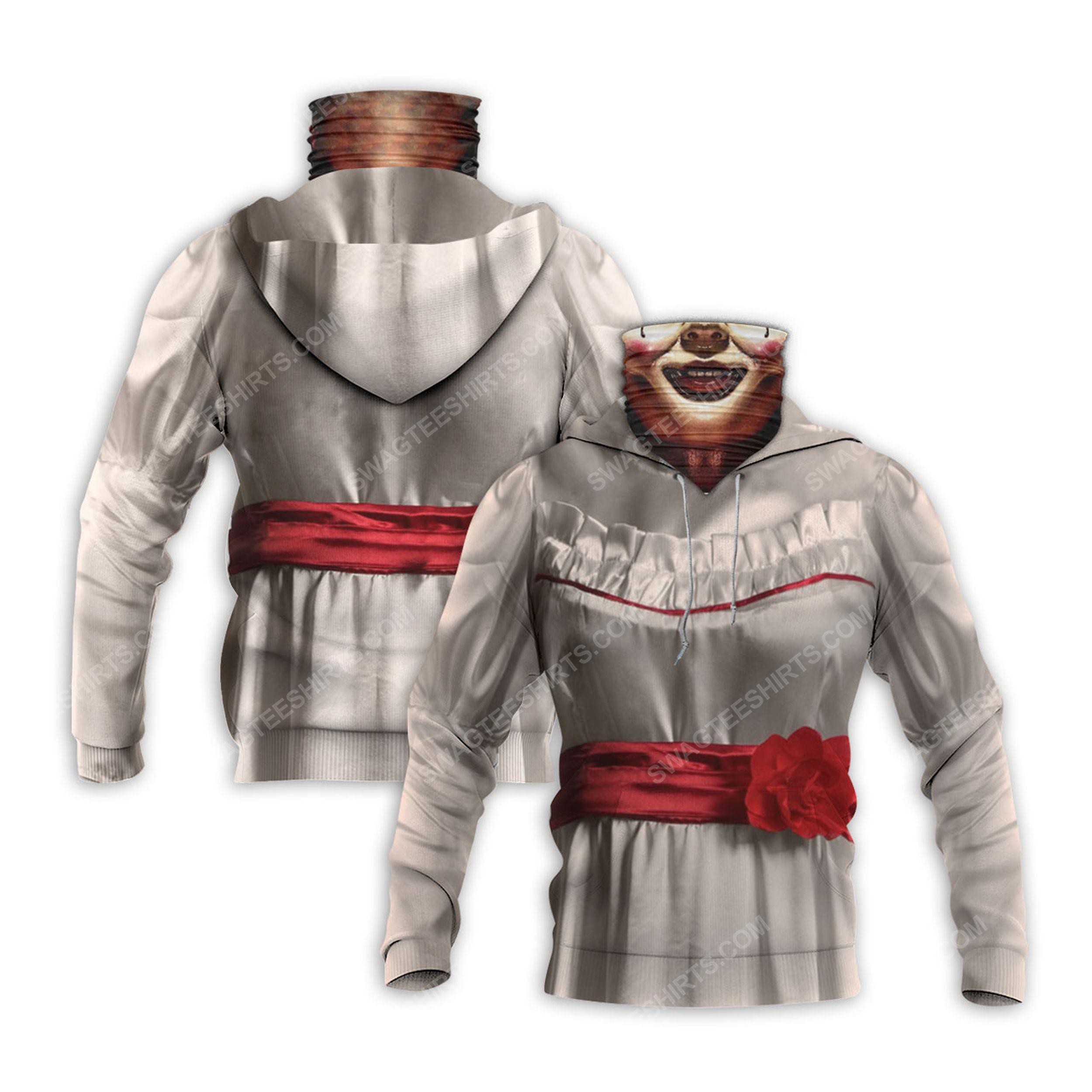 Horror movie annabelle for halloween full print mask hoodie 2(1)
