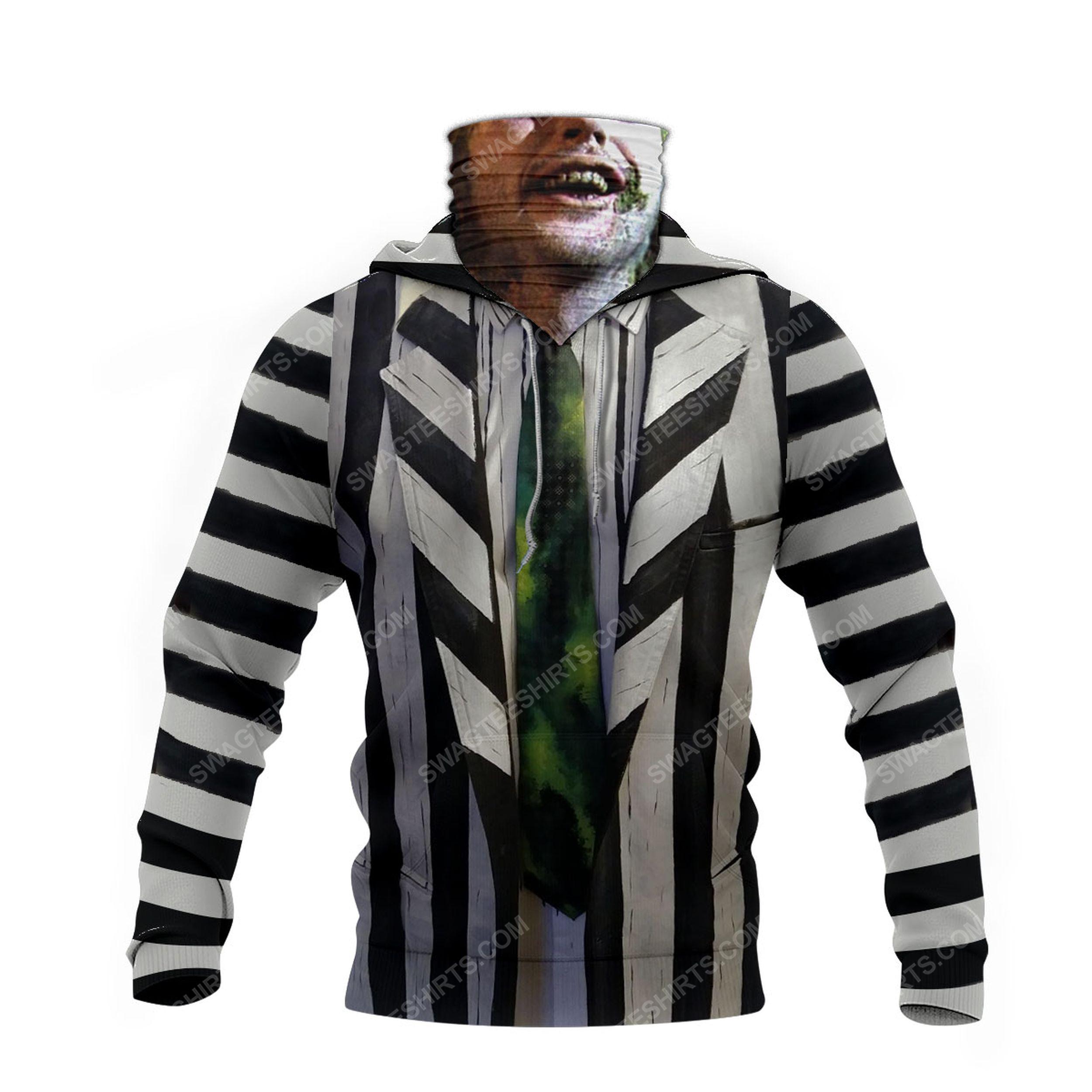 Horror movie beetlejuice for halloween full print mask hoodie 4(1)