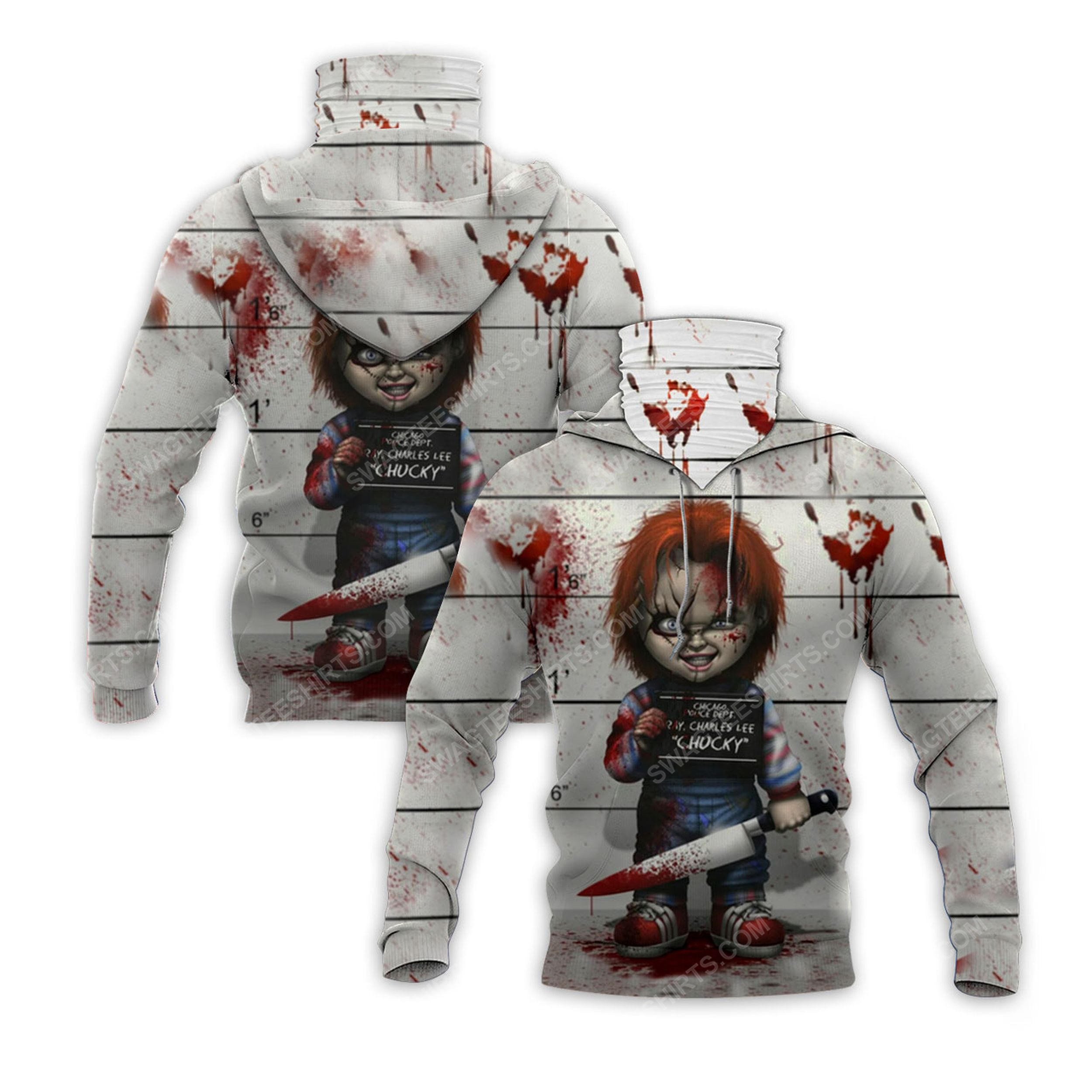 Horror movie chucky doll for halloween full print mask hoodie 2(1) - Copy