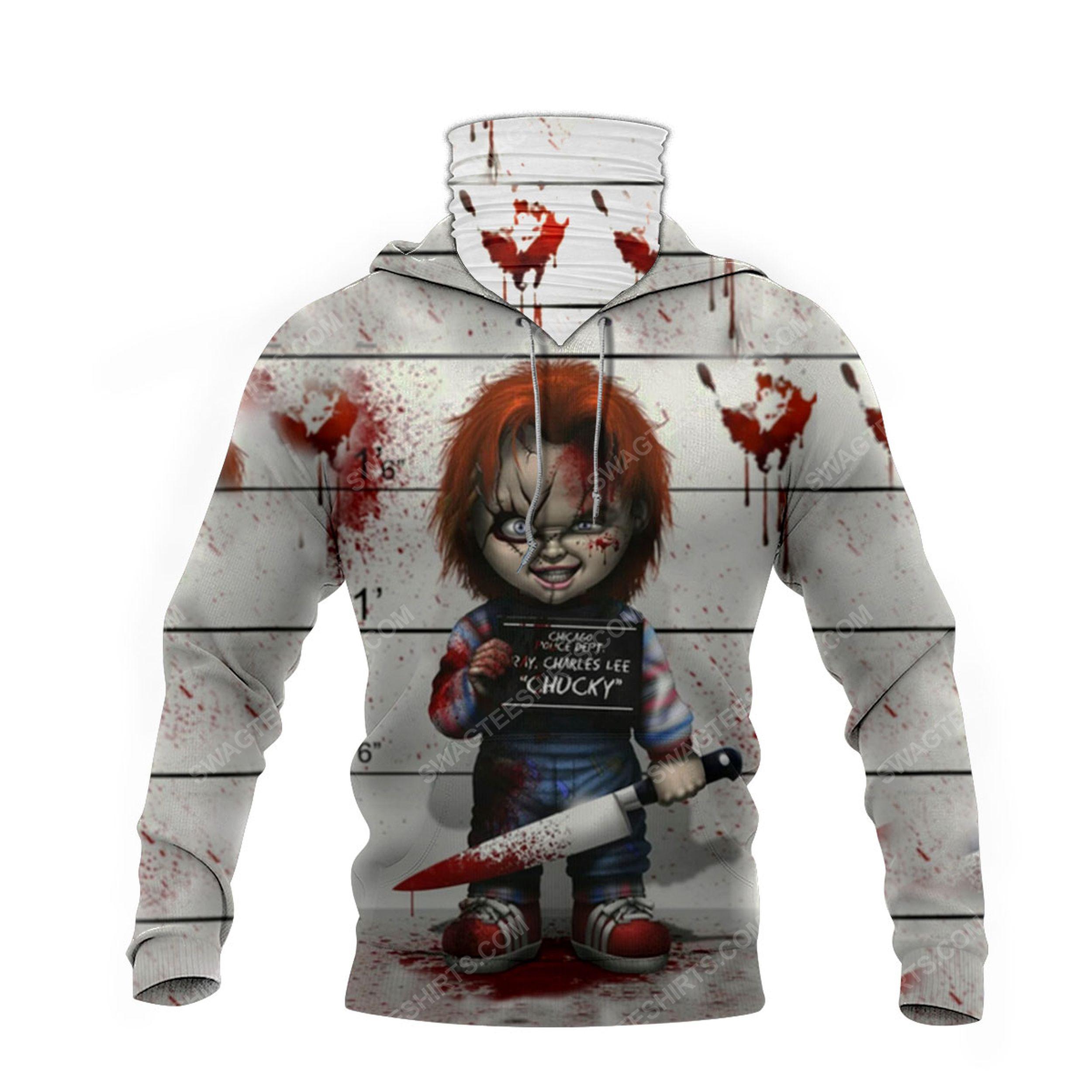 Horror movie chucky doll for halloween full print mask hoodie 4(1)