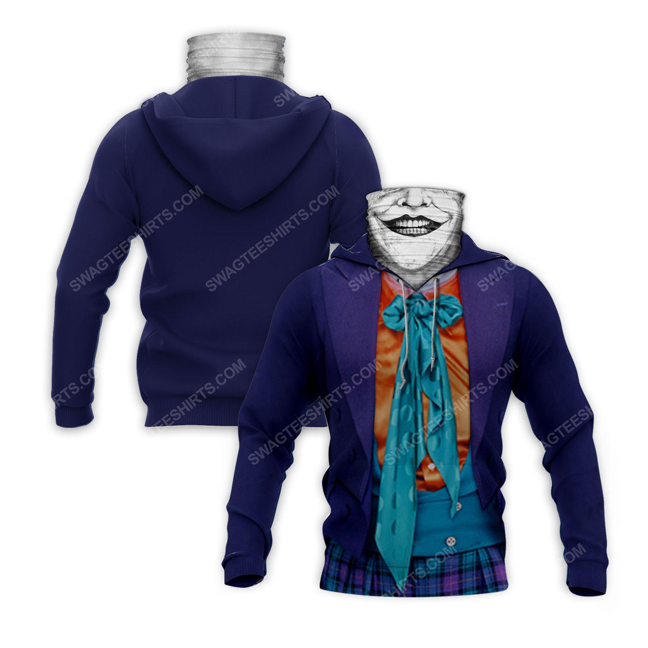 Horror movie joker for halloween full print mask hoodie 2(1)