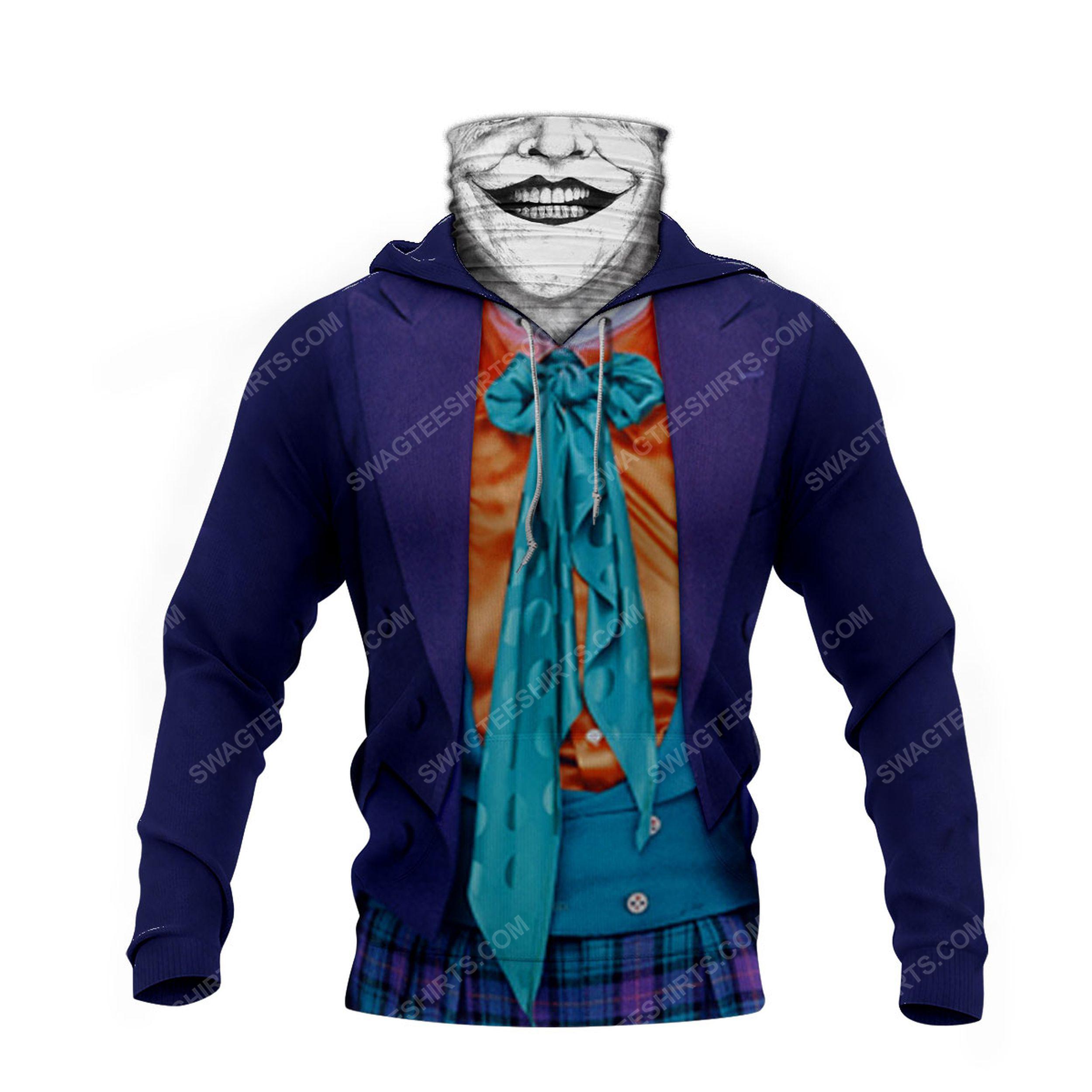 Horror movie joker for halloween full print mask hoodie 4(1)