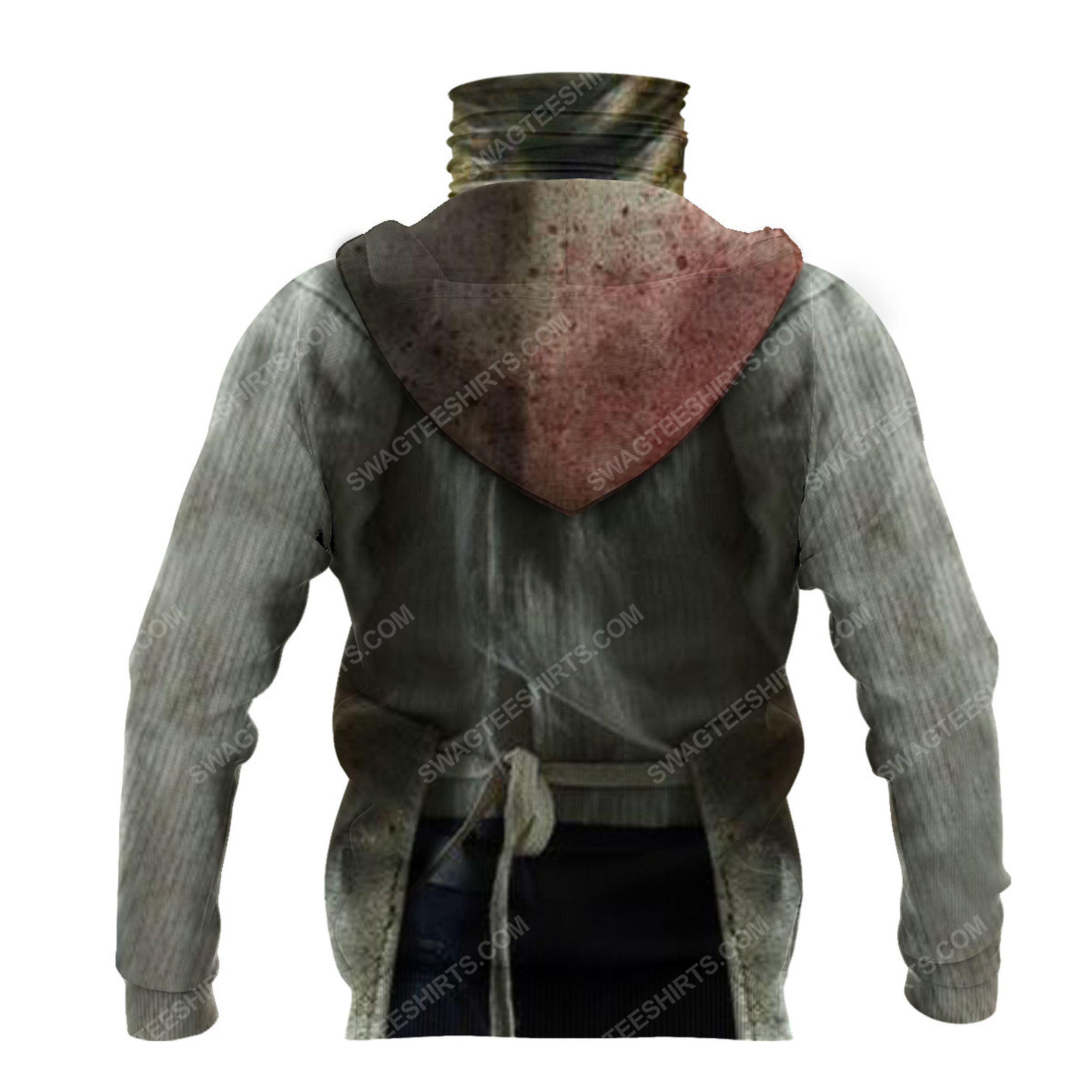 Horror movie leatherface for halloween full print mask hoodie 3(1)