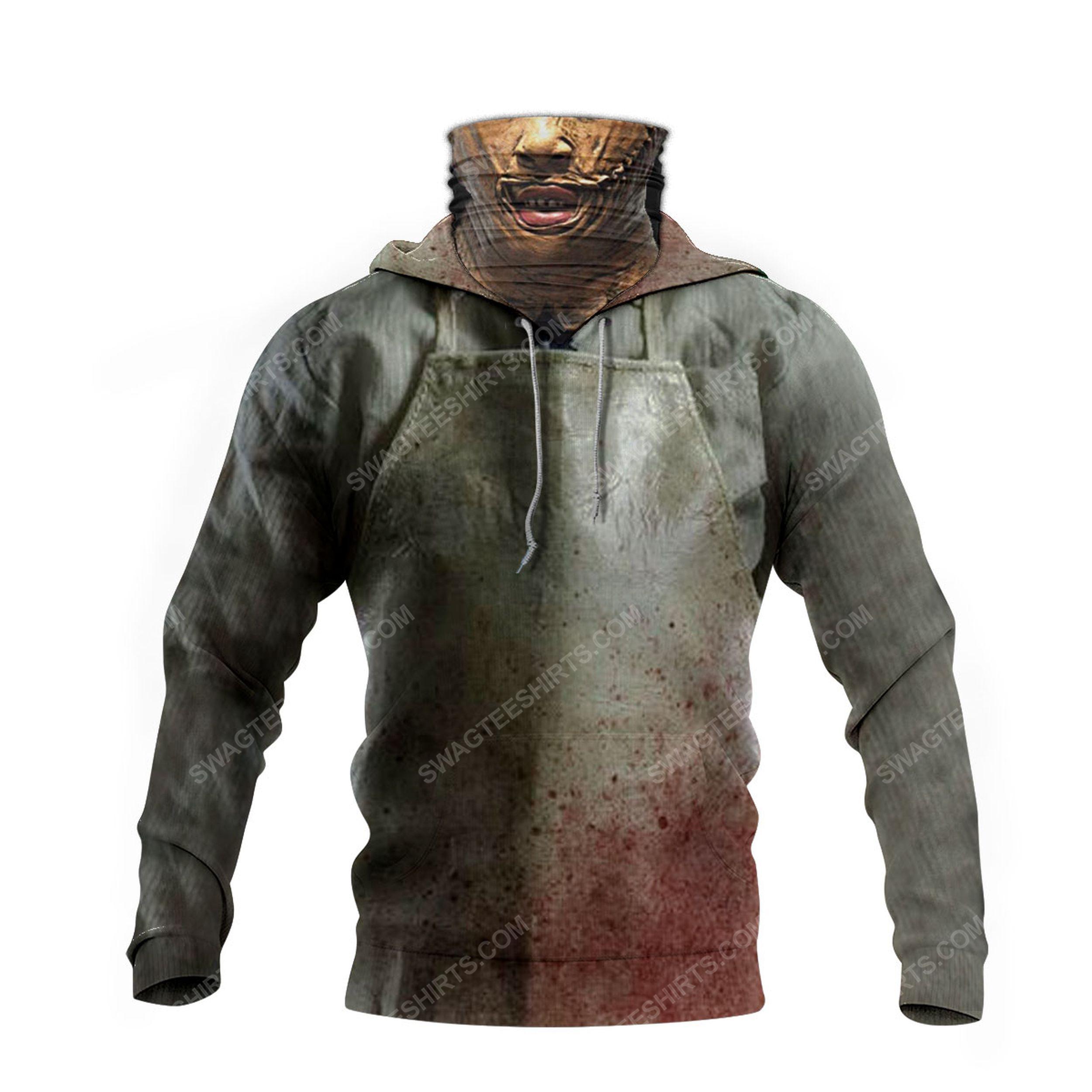 Horror movie leatherface for halloween full print mask hoodie 4(1)