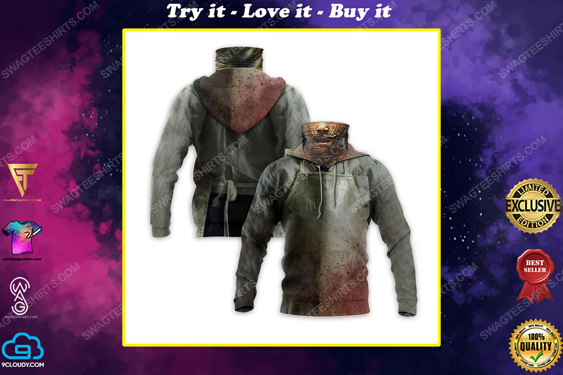 Horror movie leatherface for halloween full print mask hoodie