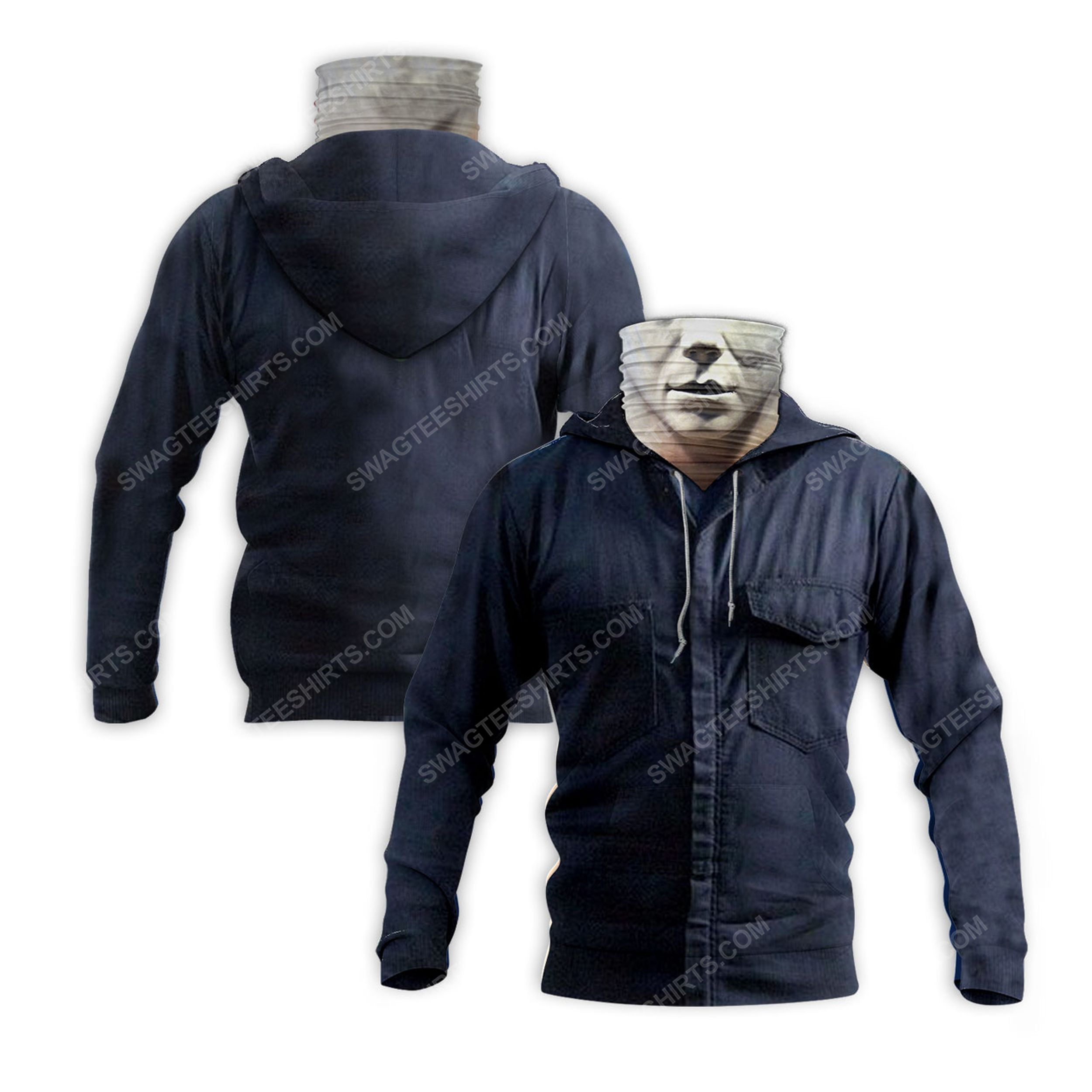 Horror movie michael myers for halloween full print mask hoodie 2(1) - Copy