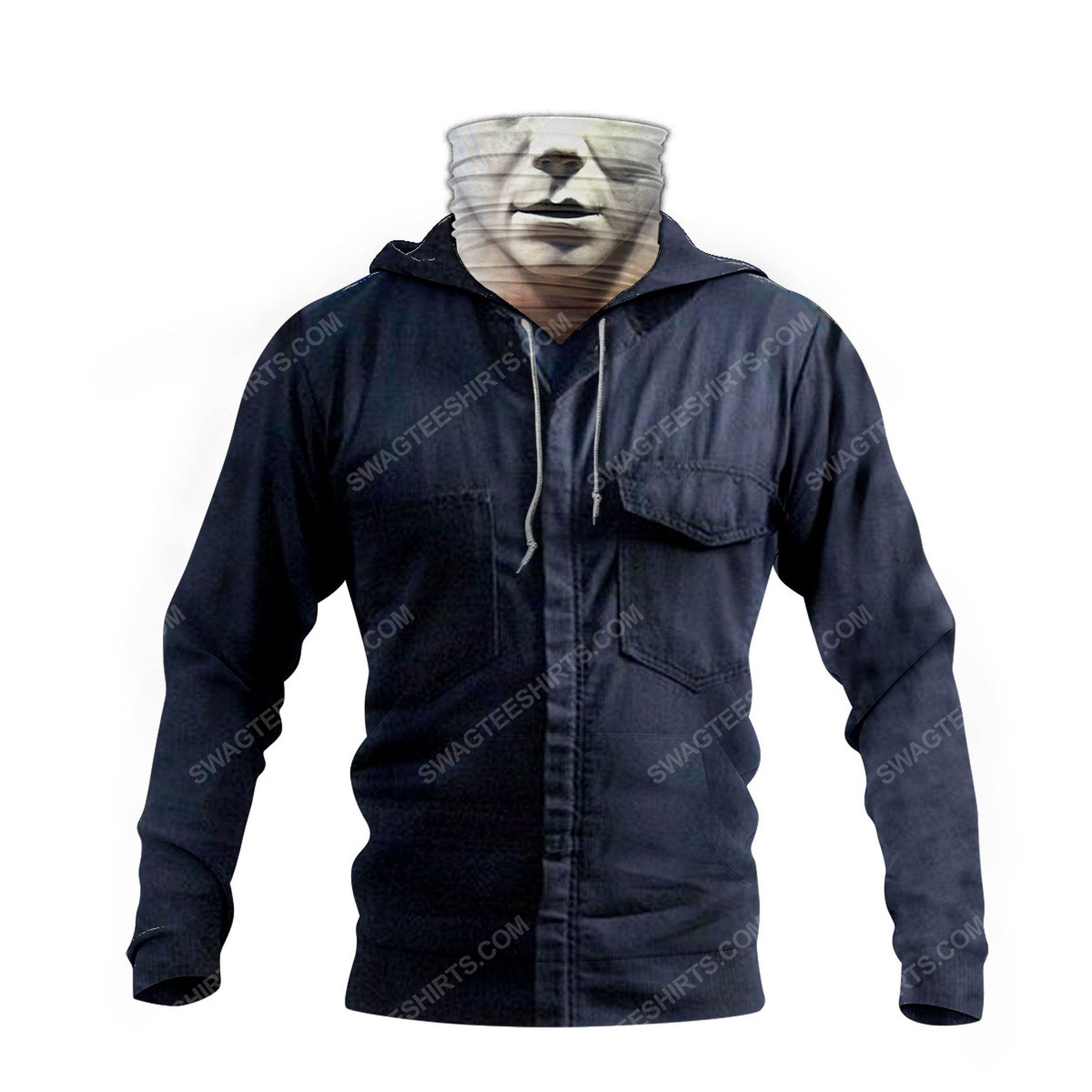 Horror movie michael myers for halloween full print mask hoodie 4(1)