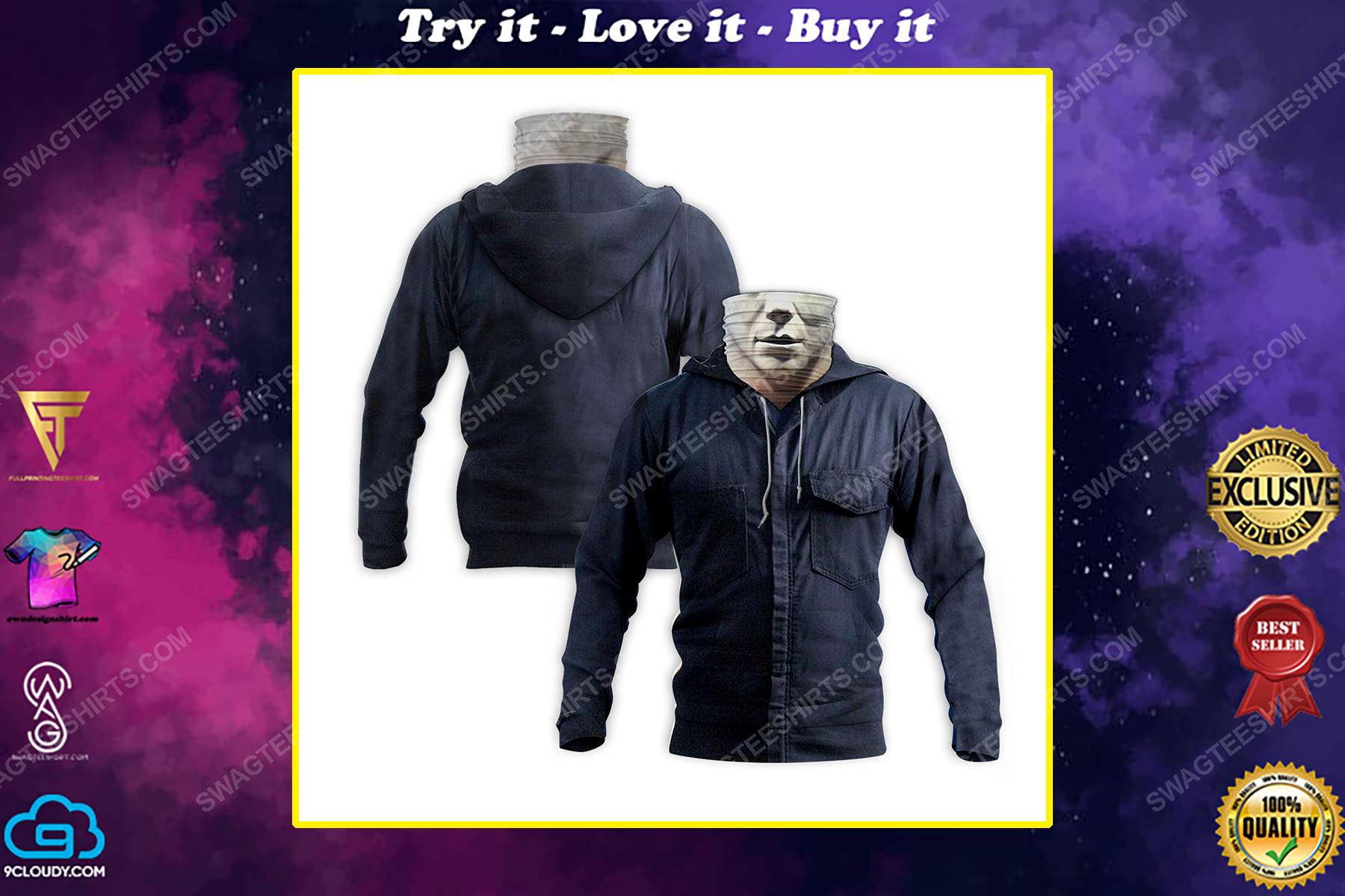 Horror movie michael myers for halloween full print mask hoodie