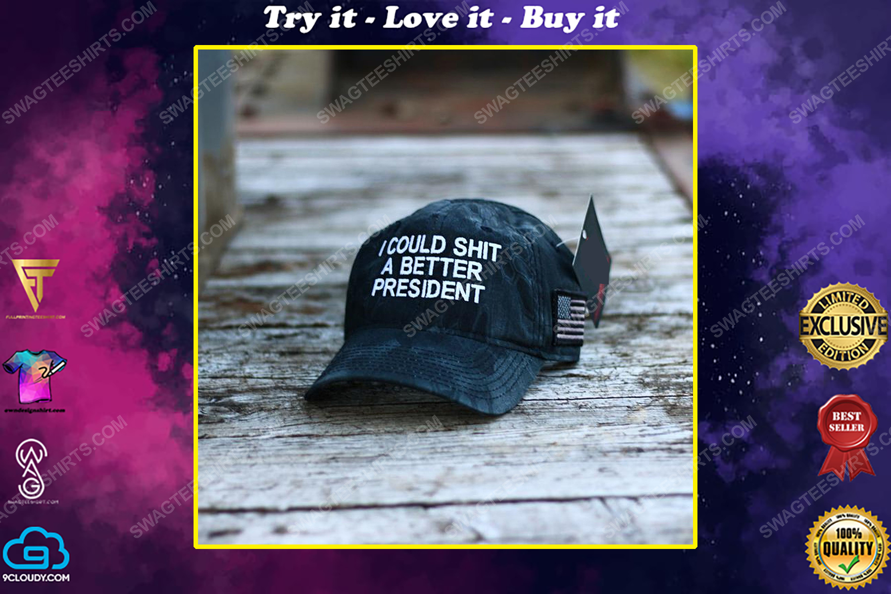 I could shit a better president full print classic hat