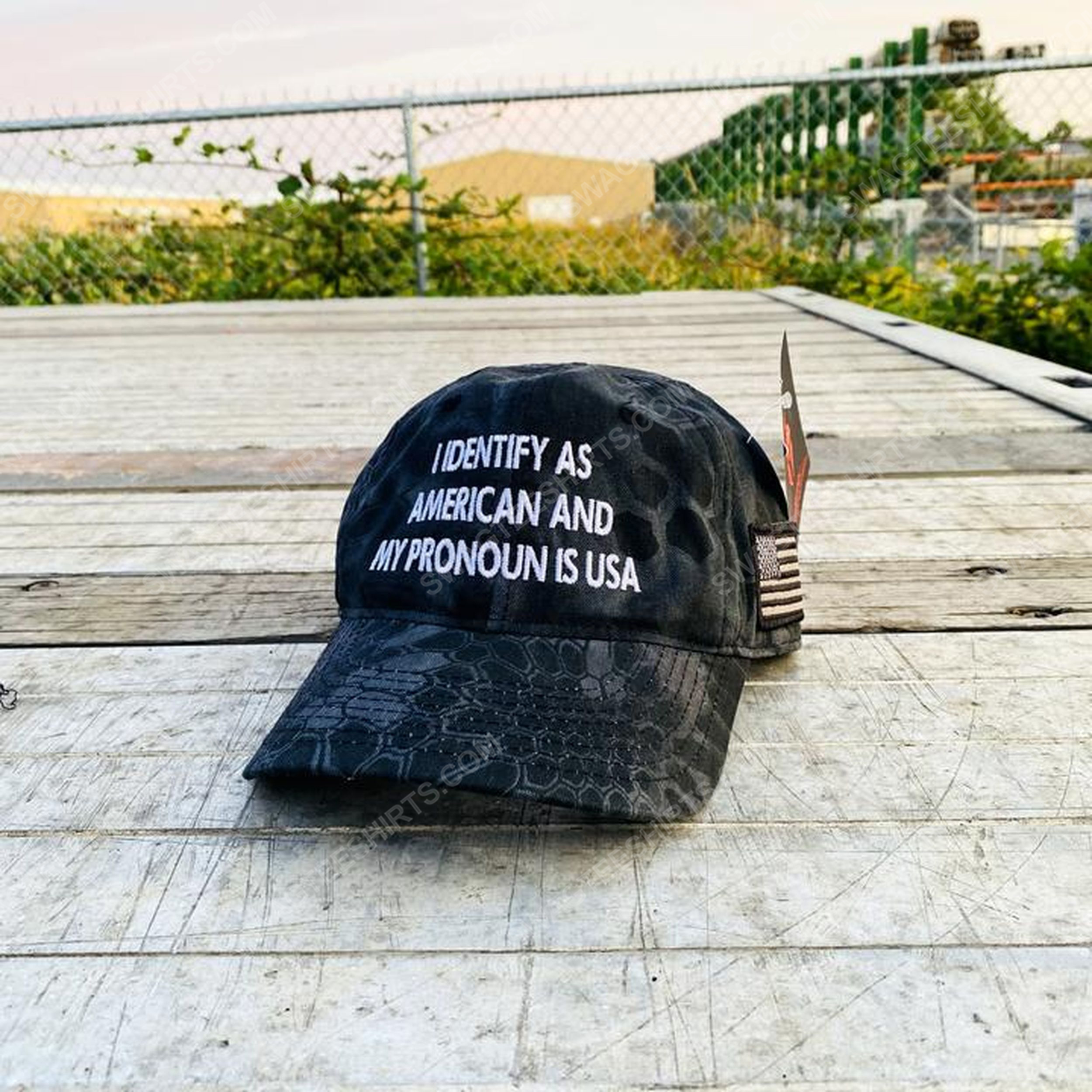 I identify as american and my pronoun is usa full print classic hat 1 - Copy (2)
