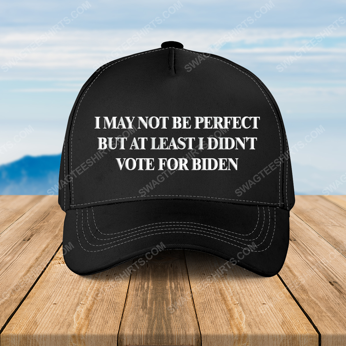 I may not be perfect but at least i didn't vote for biden full print classic hat 1