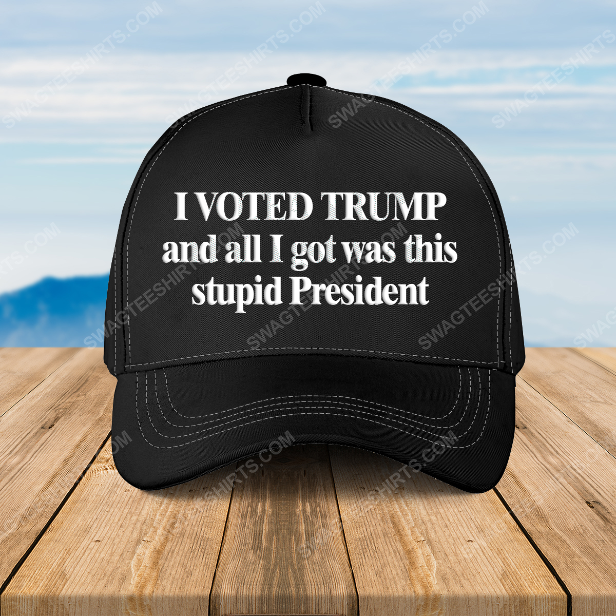 I voted trump and all i got was this stupid president full print classic hat 1 - Copy (3)