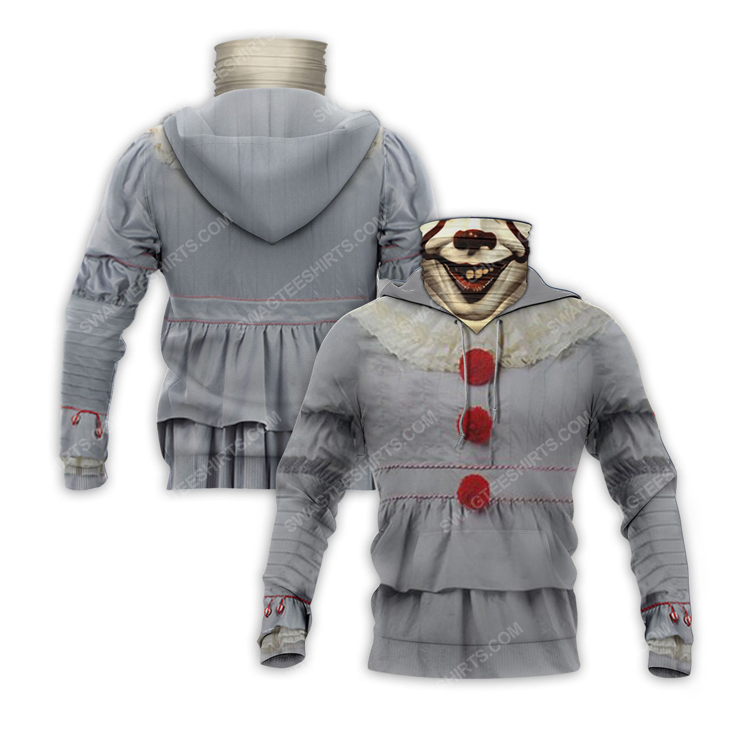 IT chapter two pennywise full print mask hoodie 2(1) - Copy