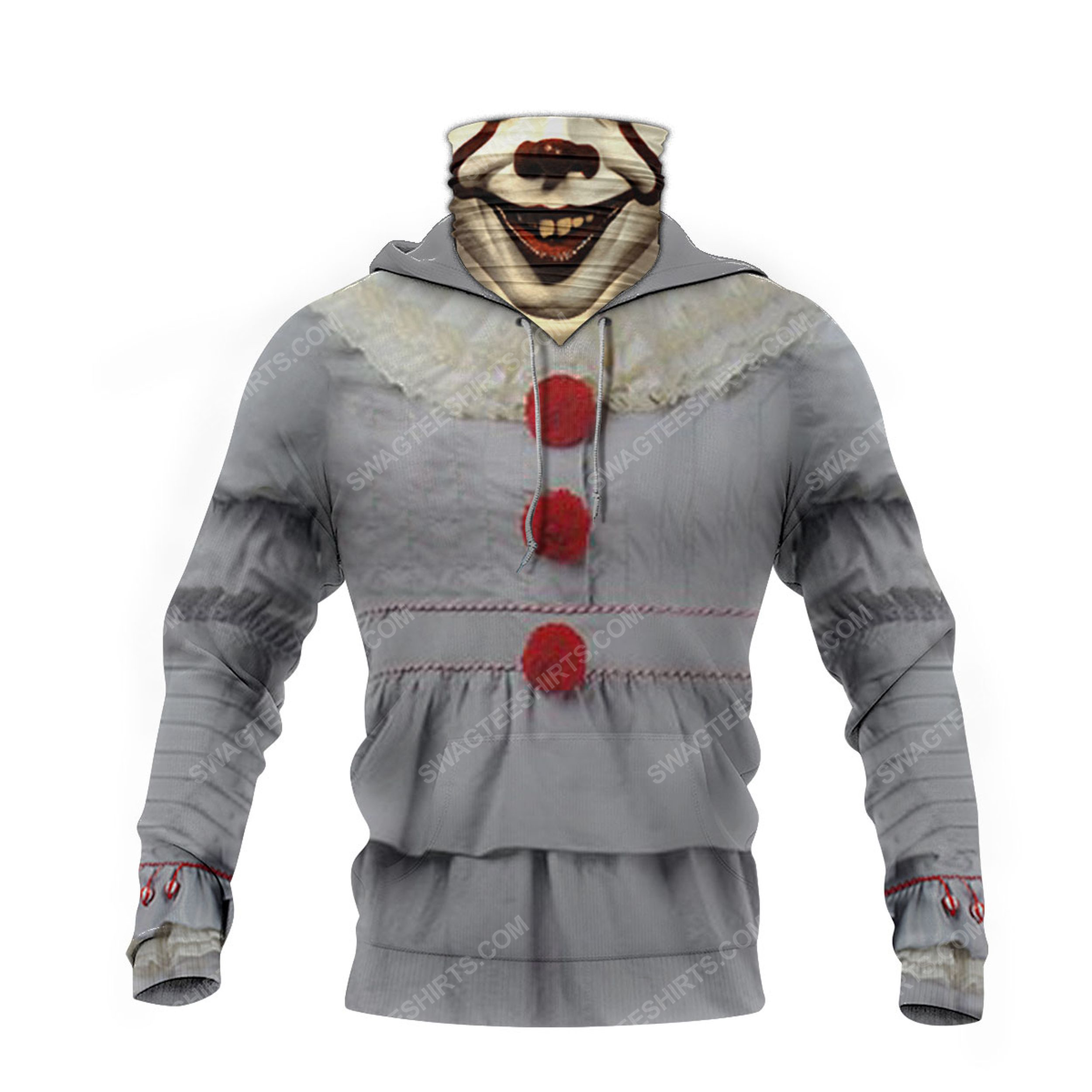 IT chapter two pennywise full print mask hoodie 4(1)