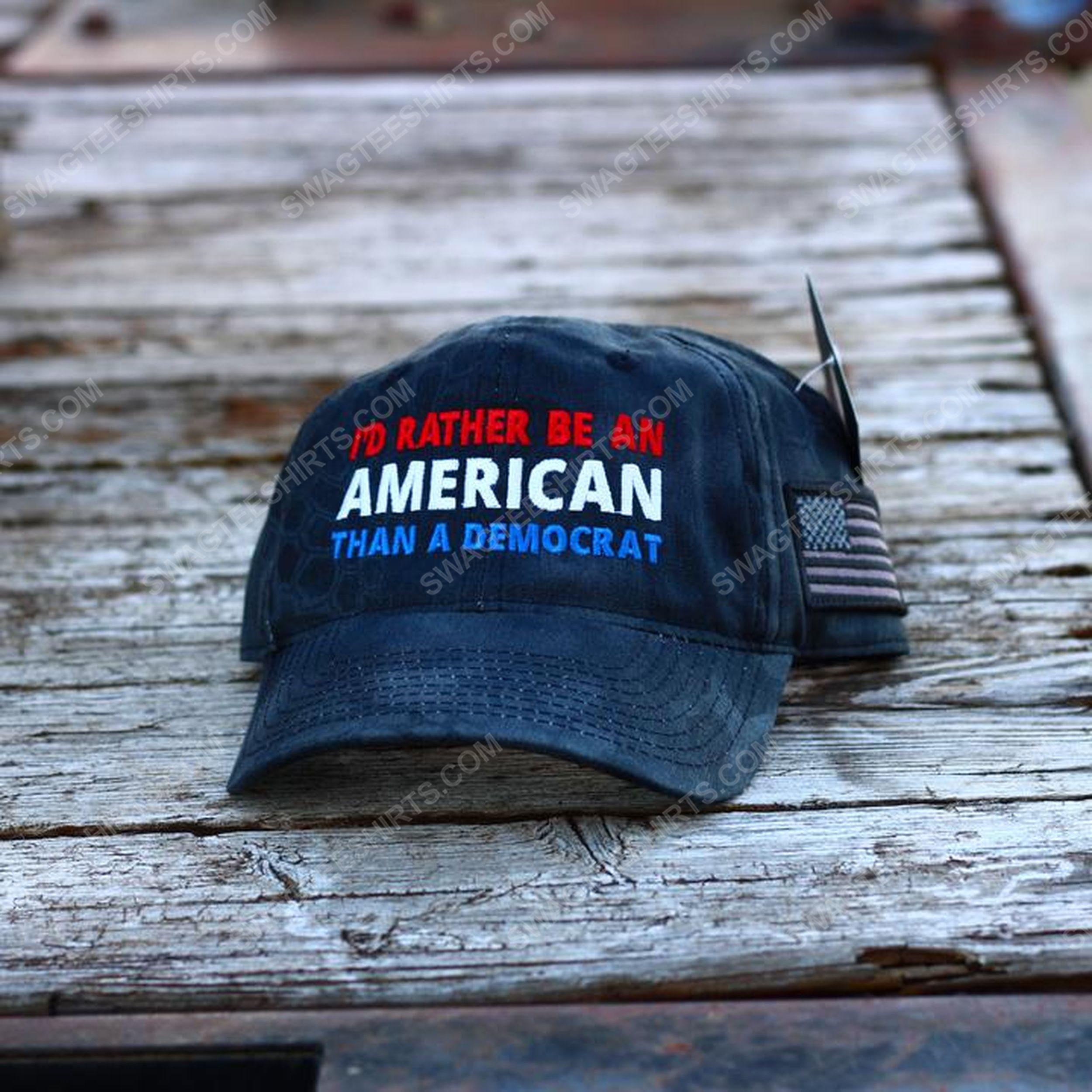 I'd rather be an american than a democrat full print classic hat 1