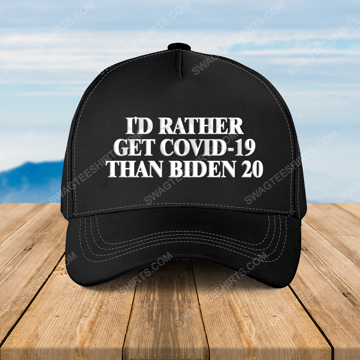 I'd rather get covid-19 than biden 20 full print classic hat 1 - Copy (2)