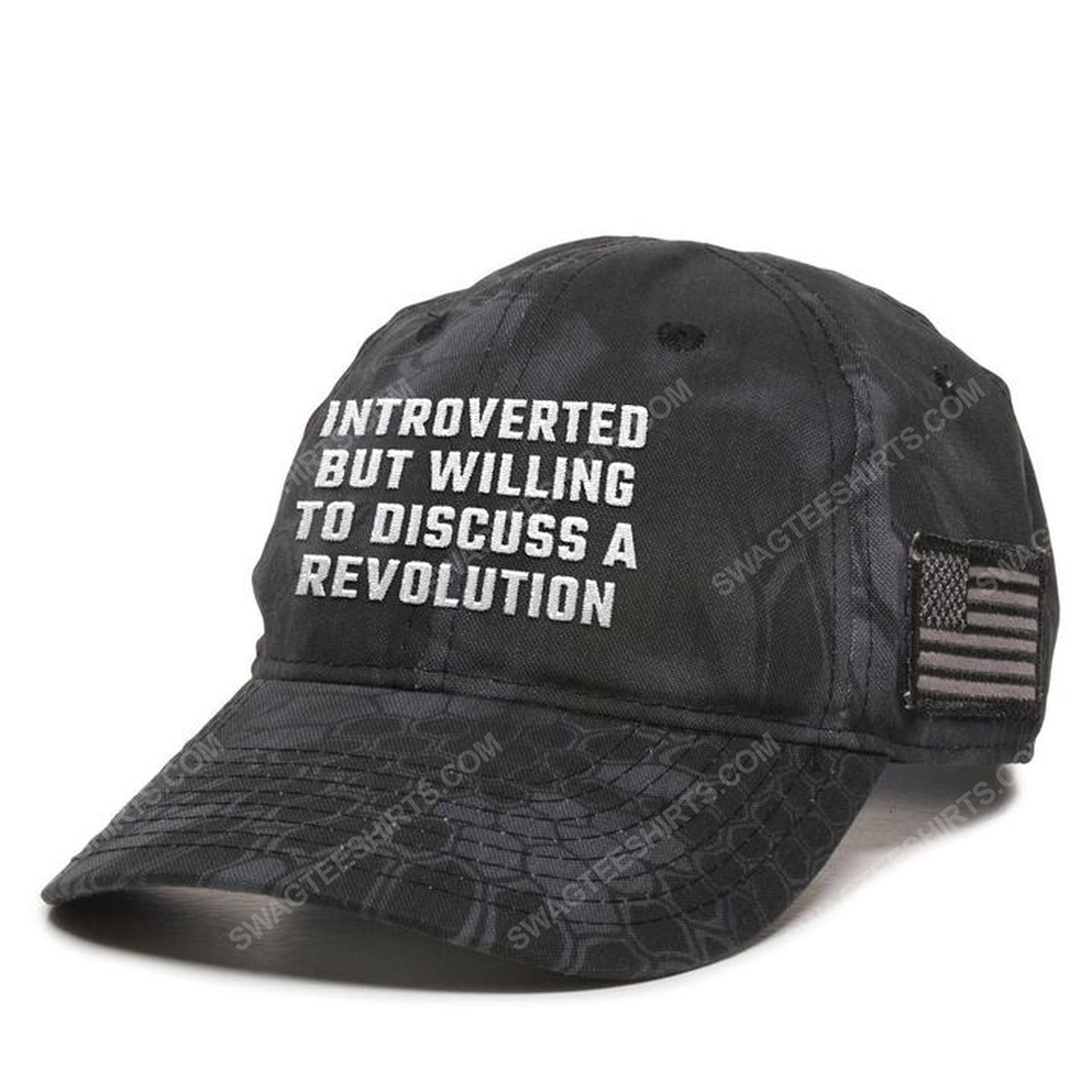 Introverted but willing to discuss a revolution full print classic hat 1