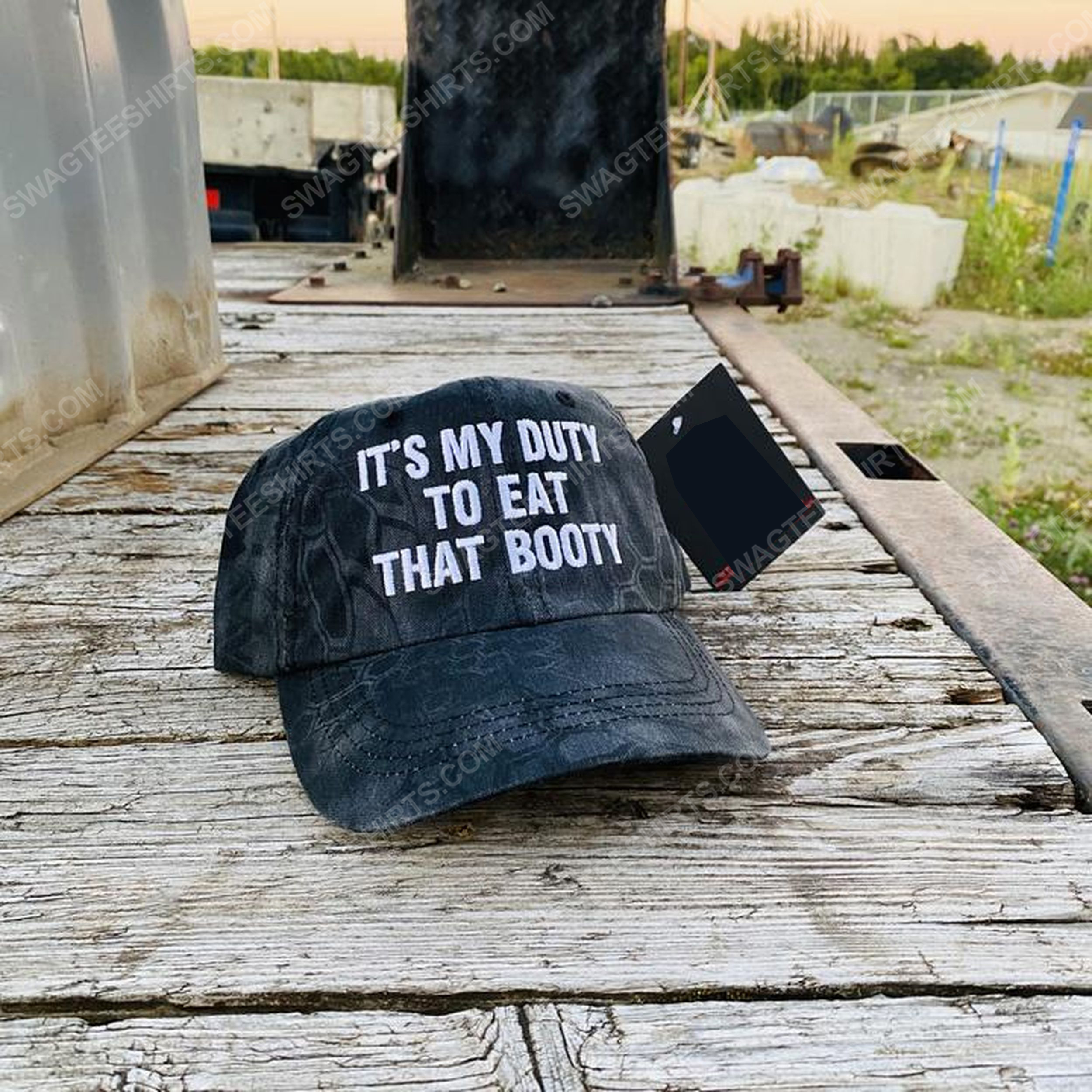 It's my duty to eat that booty full print classic hat 1