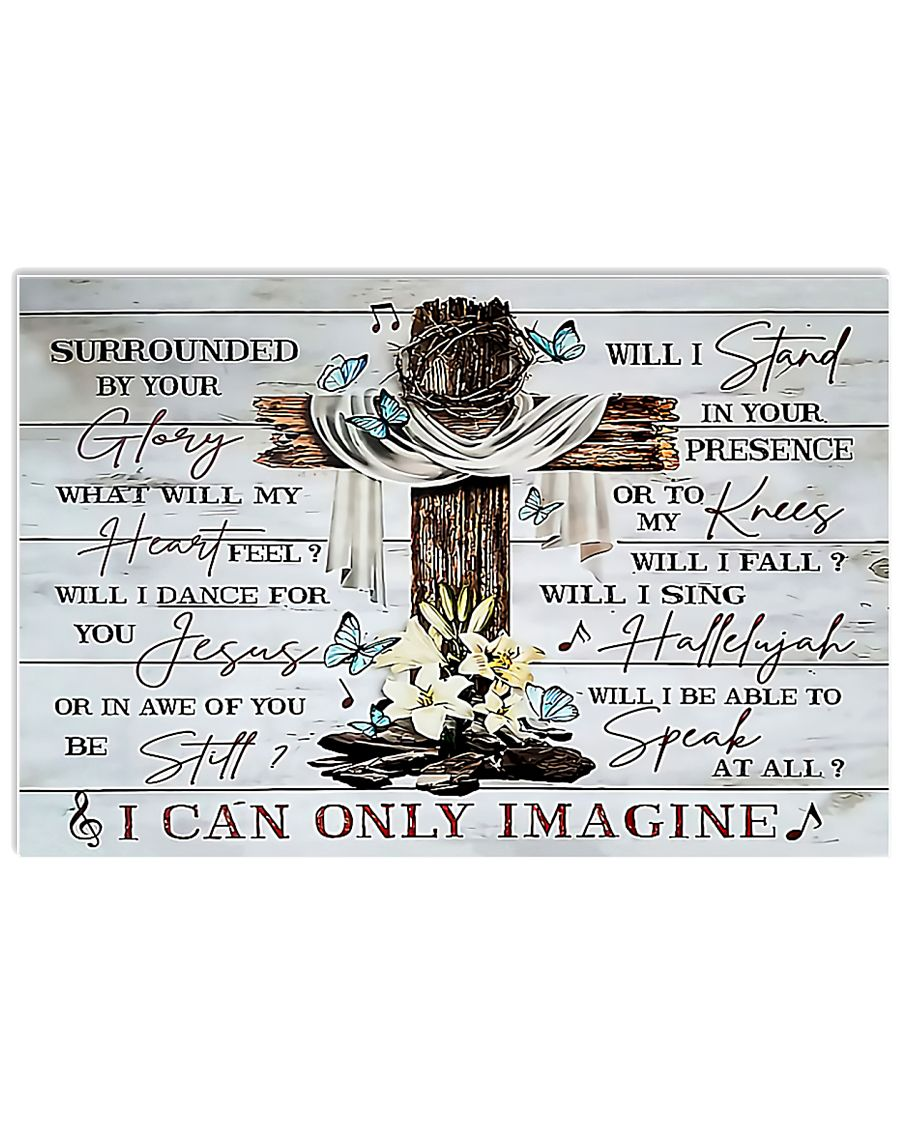 Jesus cross and butterfly i can only imagine poster 1