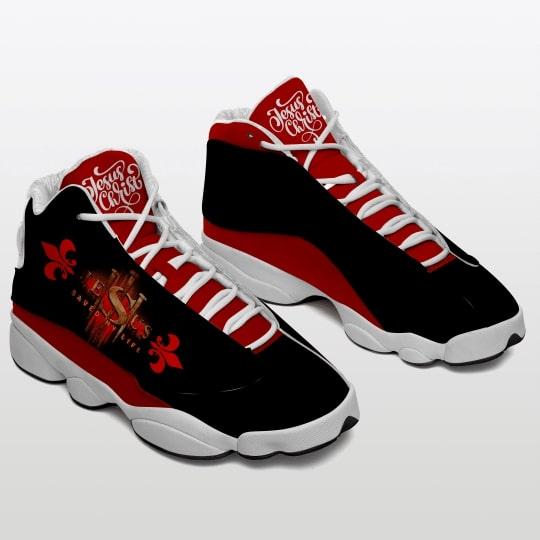 Jesus saved my life all over printed air jordan 13 sneakers 2