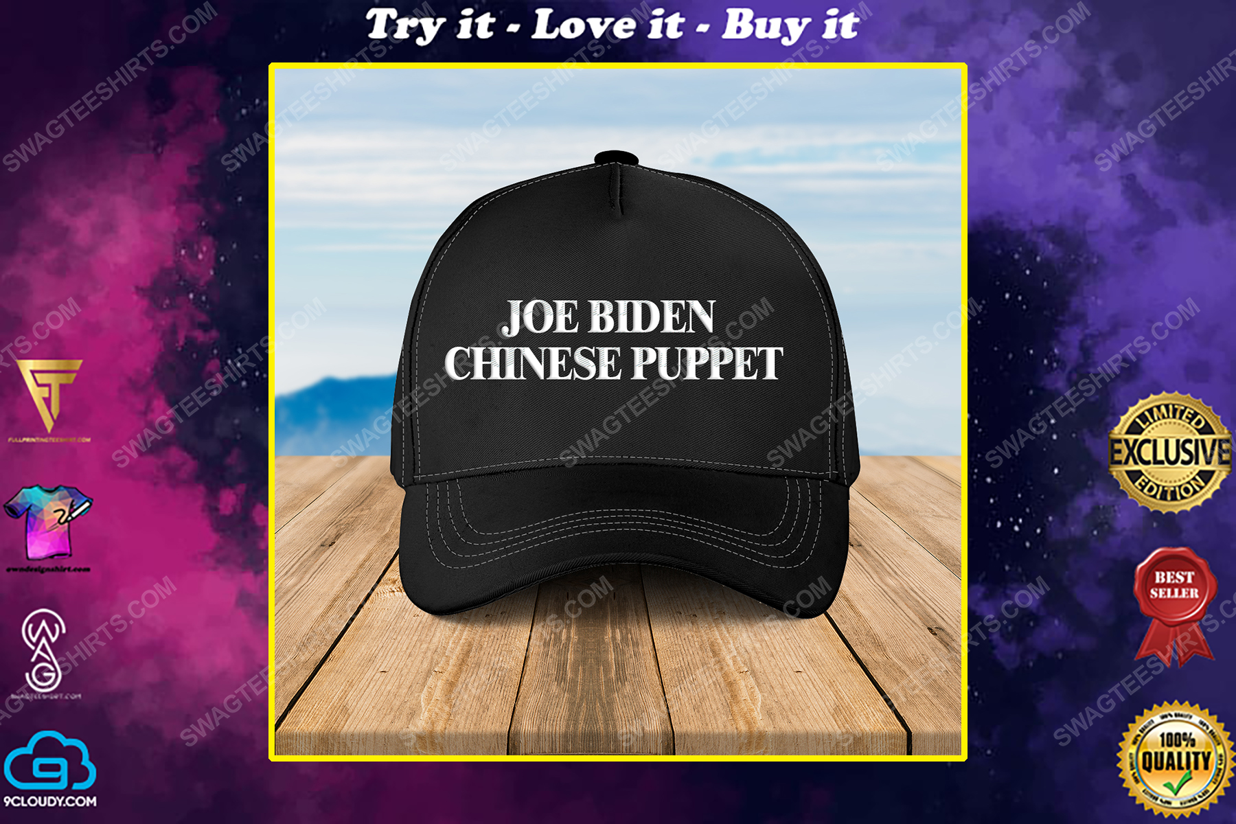 Joe biden chinese puppet full print classic hat