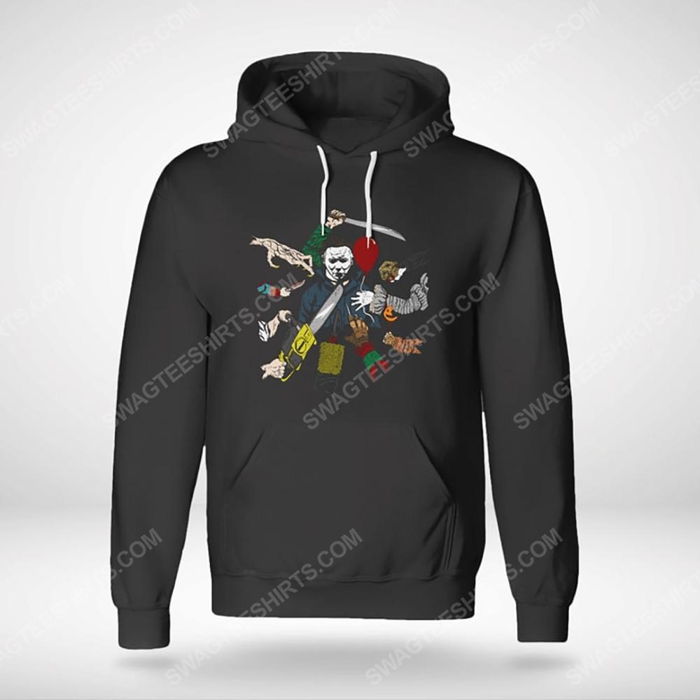 John wick and michael myers hallowick hoodie(1)