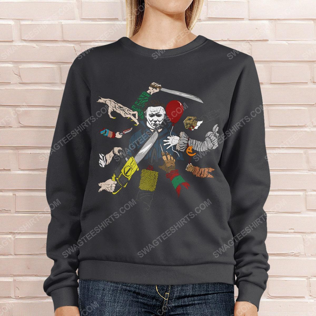 John wick and michael myers hallowick sweatshirt 1(1)