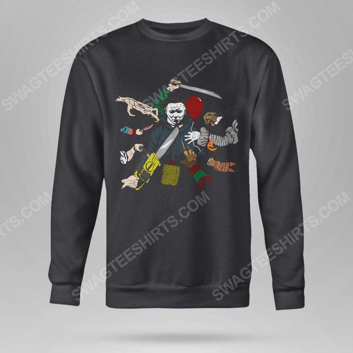 John wick and michael myers hallowick sweatshirt(1)