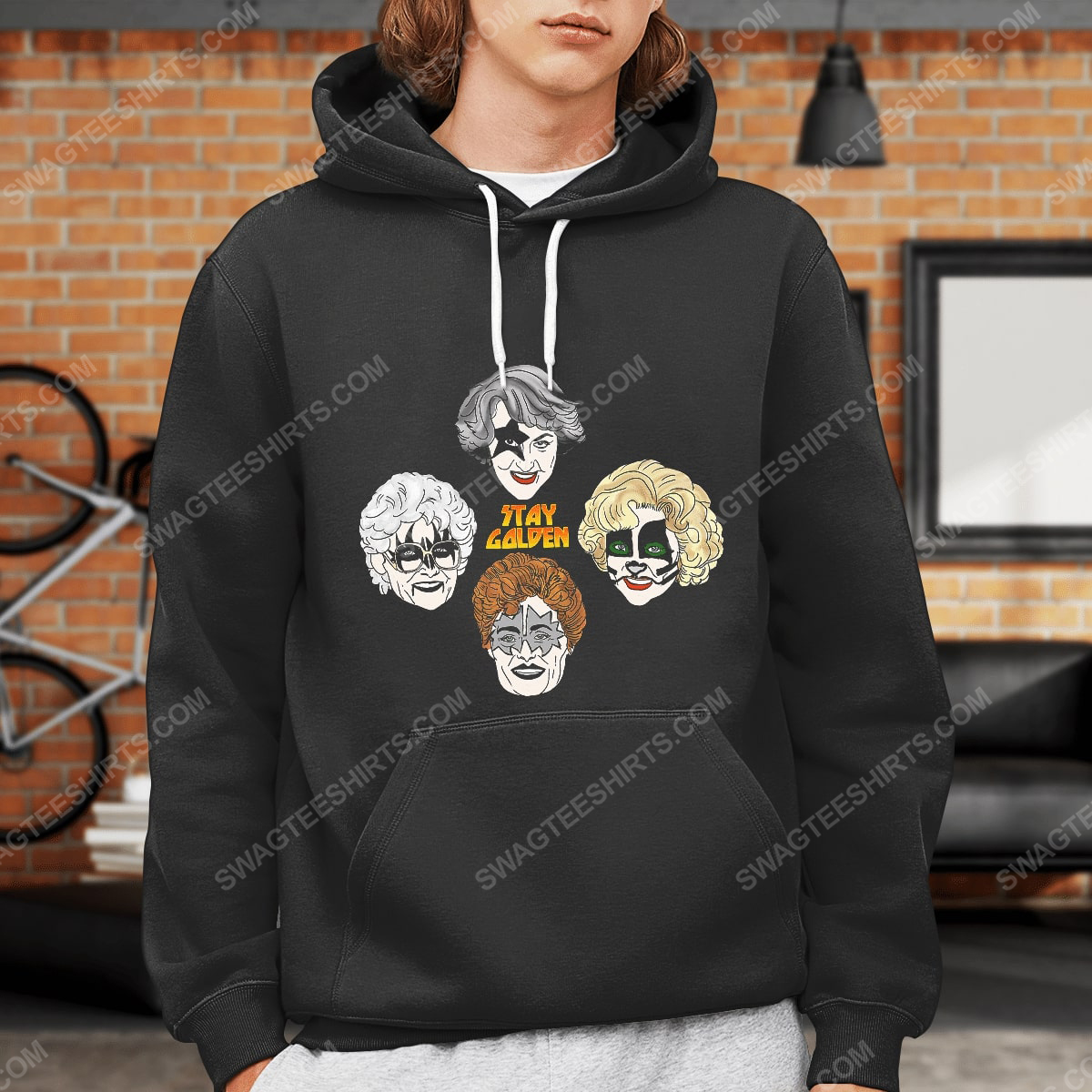 Kiss and the golden girls stay golden hoodie 1(1)