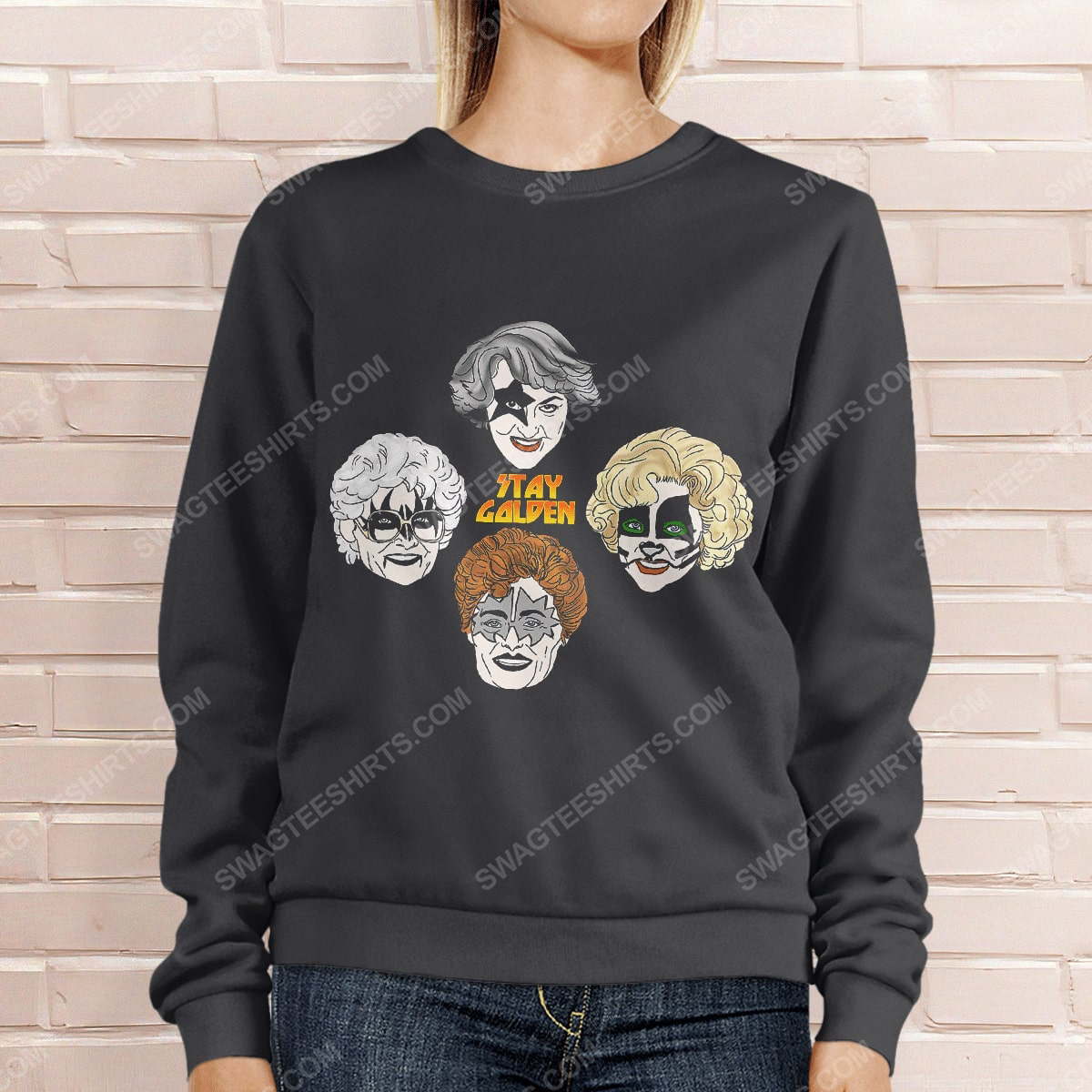 Kiss and the golden girls stay golden sweatshirt 1(1)