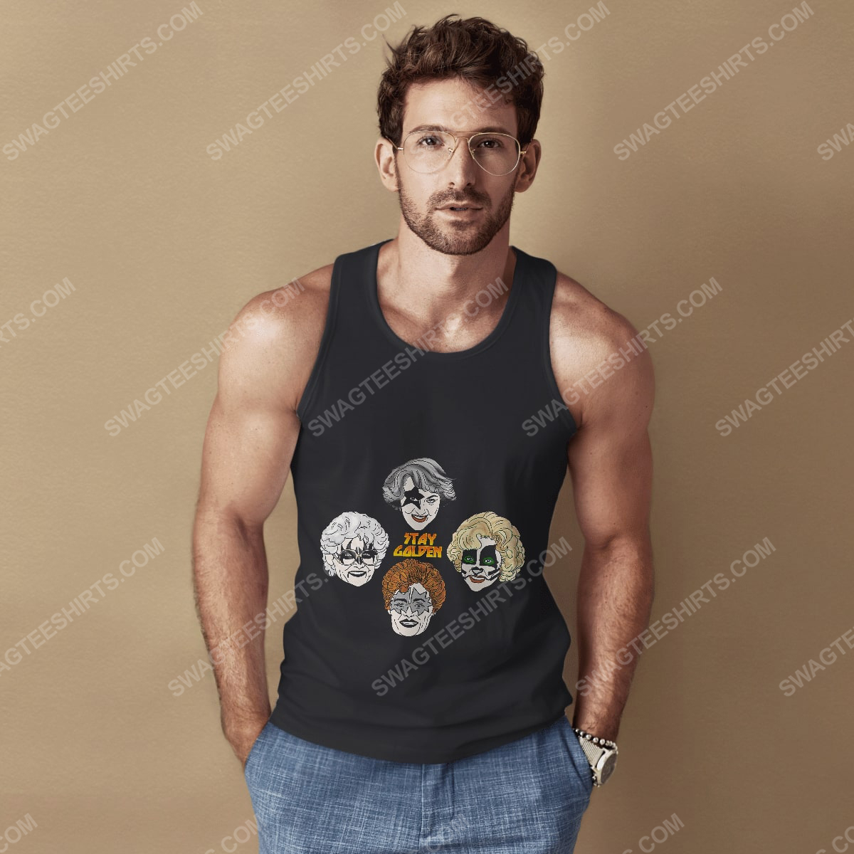 Kiss and the golden girls stay golden tank top 1(1)