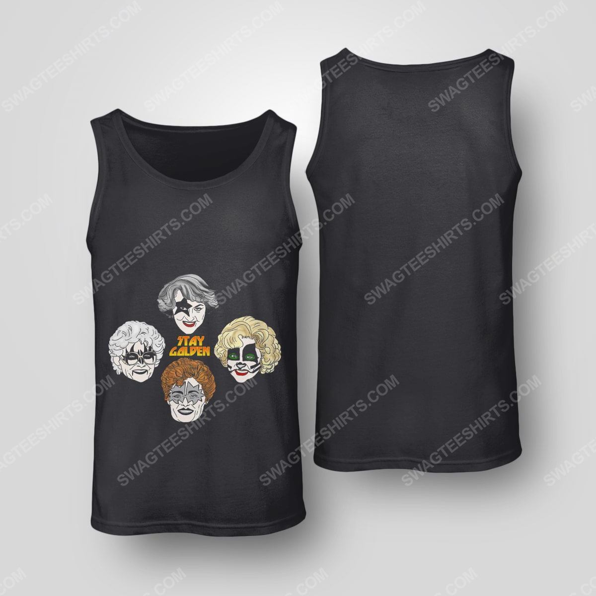 Kiss and the golden girls stay golden tank top(1)