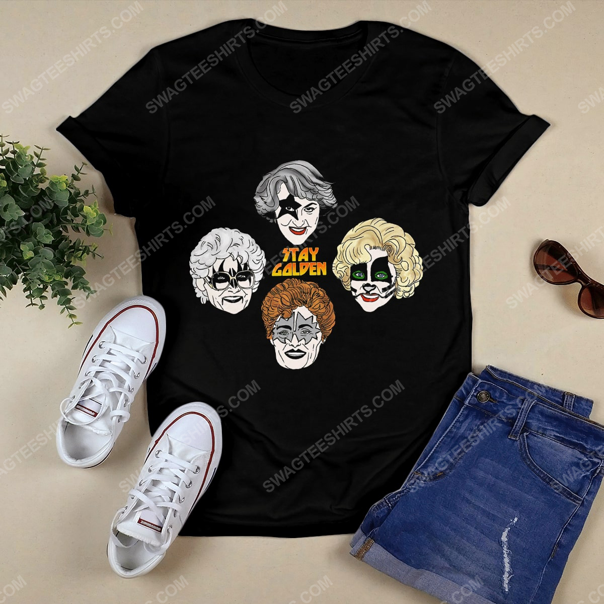 Kiss and the golden girls stay golden tshirt 1