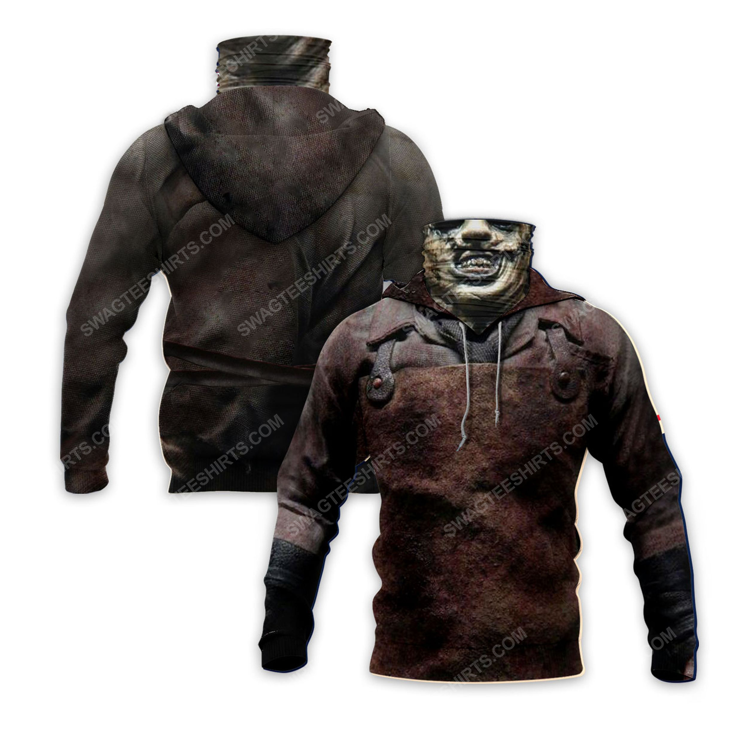 Leatherface the texas chain saw massacre for halloween full print mask hoodie 2(1)
