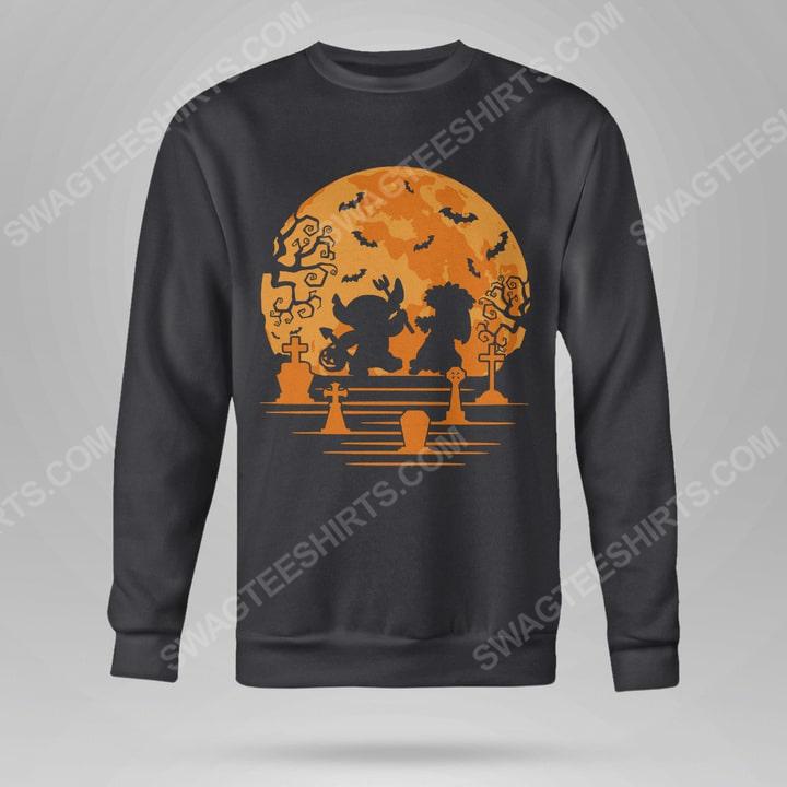 Lilo and stitch in halloween night sweatshirt(1)