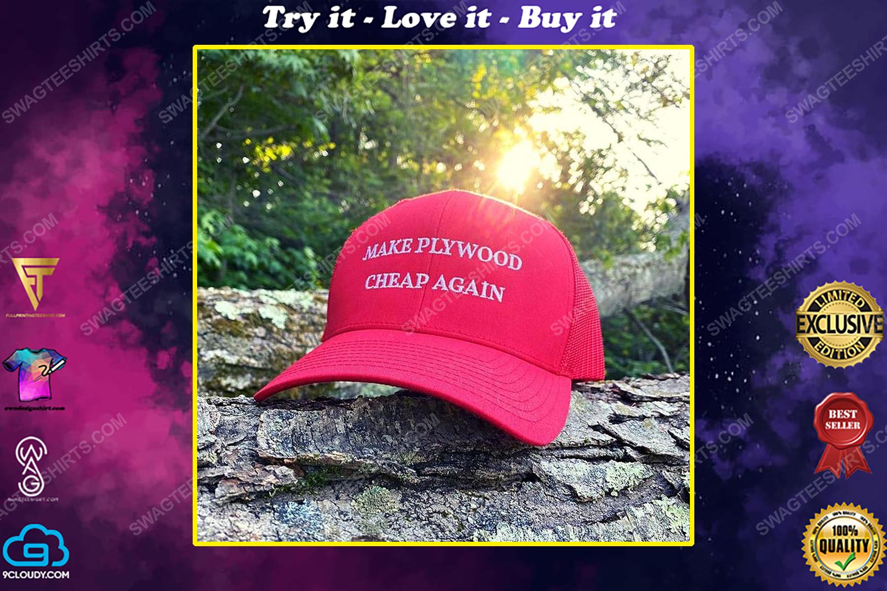 Make plywood cheap again full print classic hat