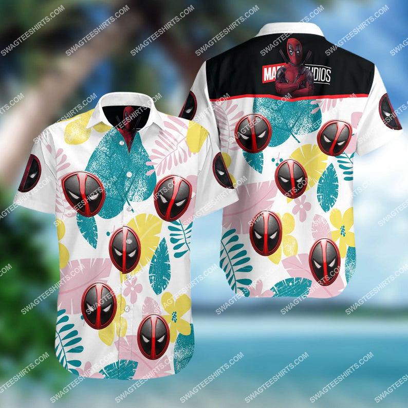 Marvel comics deadpool summer vacation hawaiian shirt 1