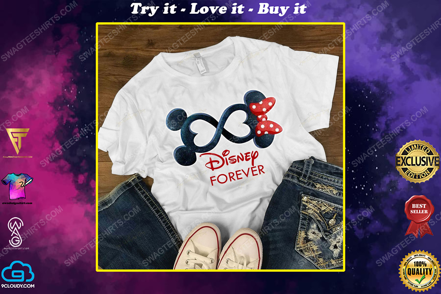 Mickey mouse and minnie mouse forever shirt