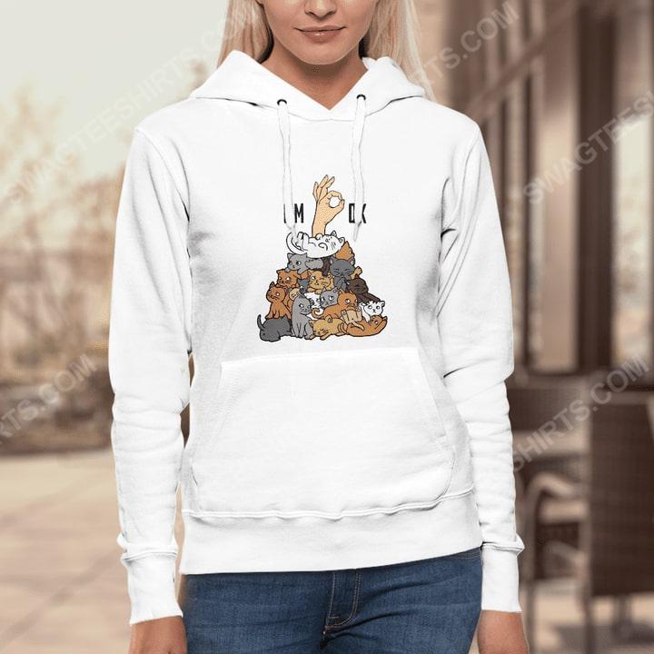 My cat thinks i'm ok cat lover hoodie 1(1)
