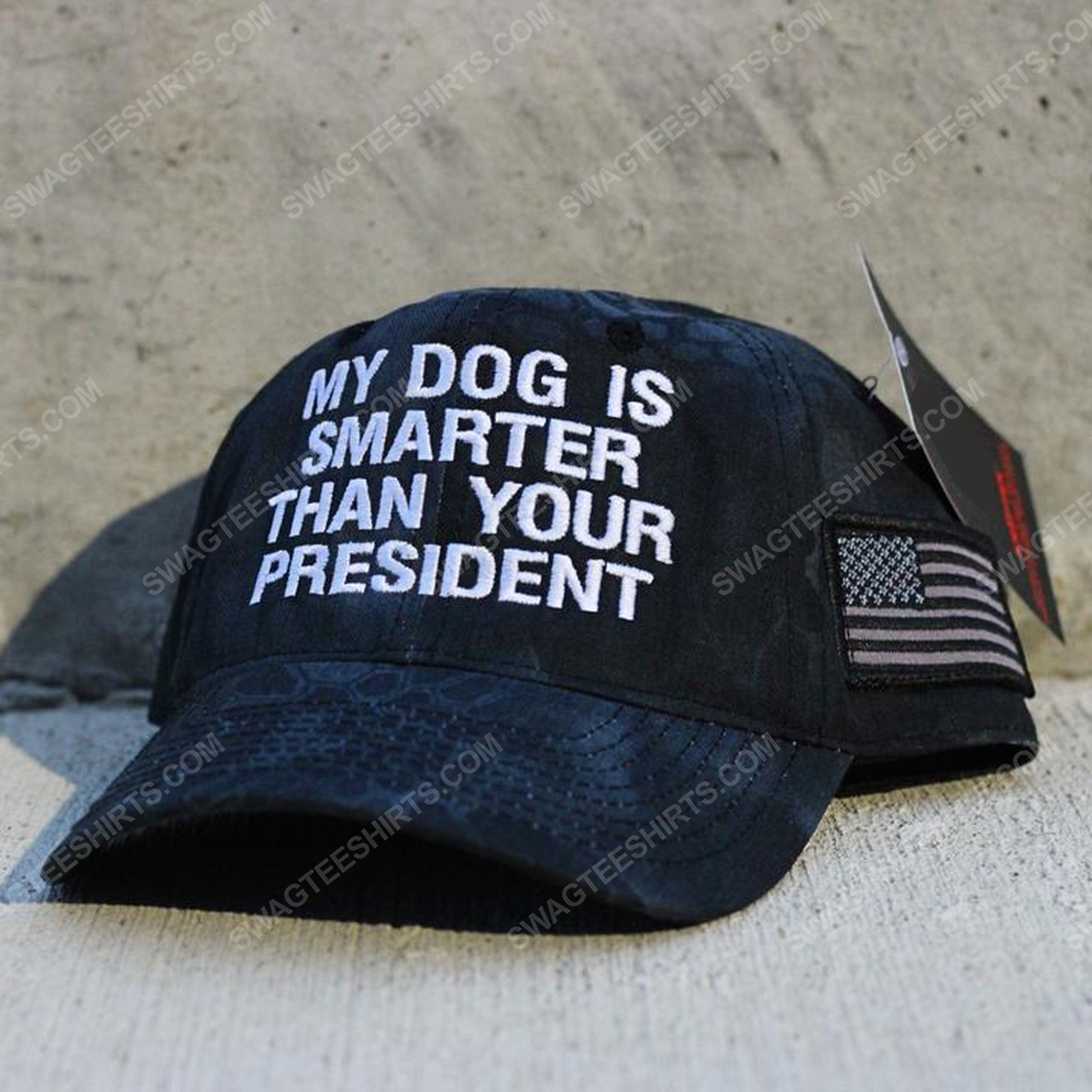 My dog is smarter than your president american flag full print classic hat 1