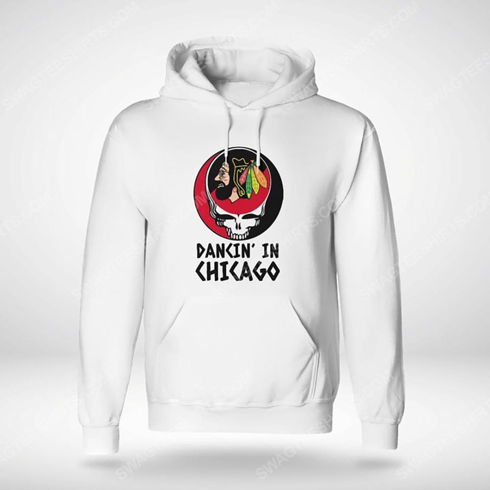 NHL chicago blackhawks and grateful dead dancin in chicago hoodie(1)
