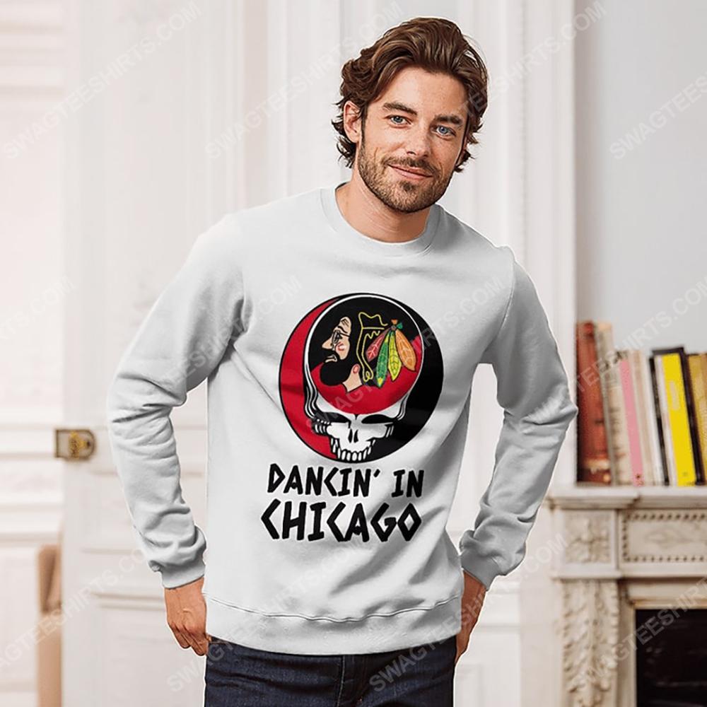 NHL chicago blackhawks and grateful dead dancin in chicago sweatshirt 1(1)