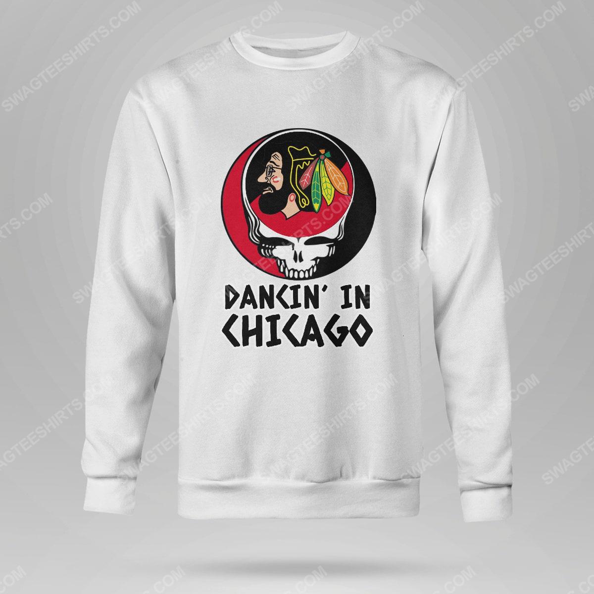 NHL chicago blackhawks and grateful dead dancin in chicago sweatshirt(1)