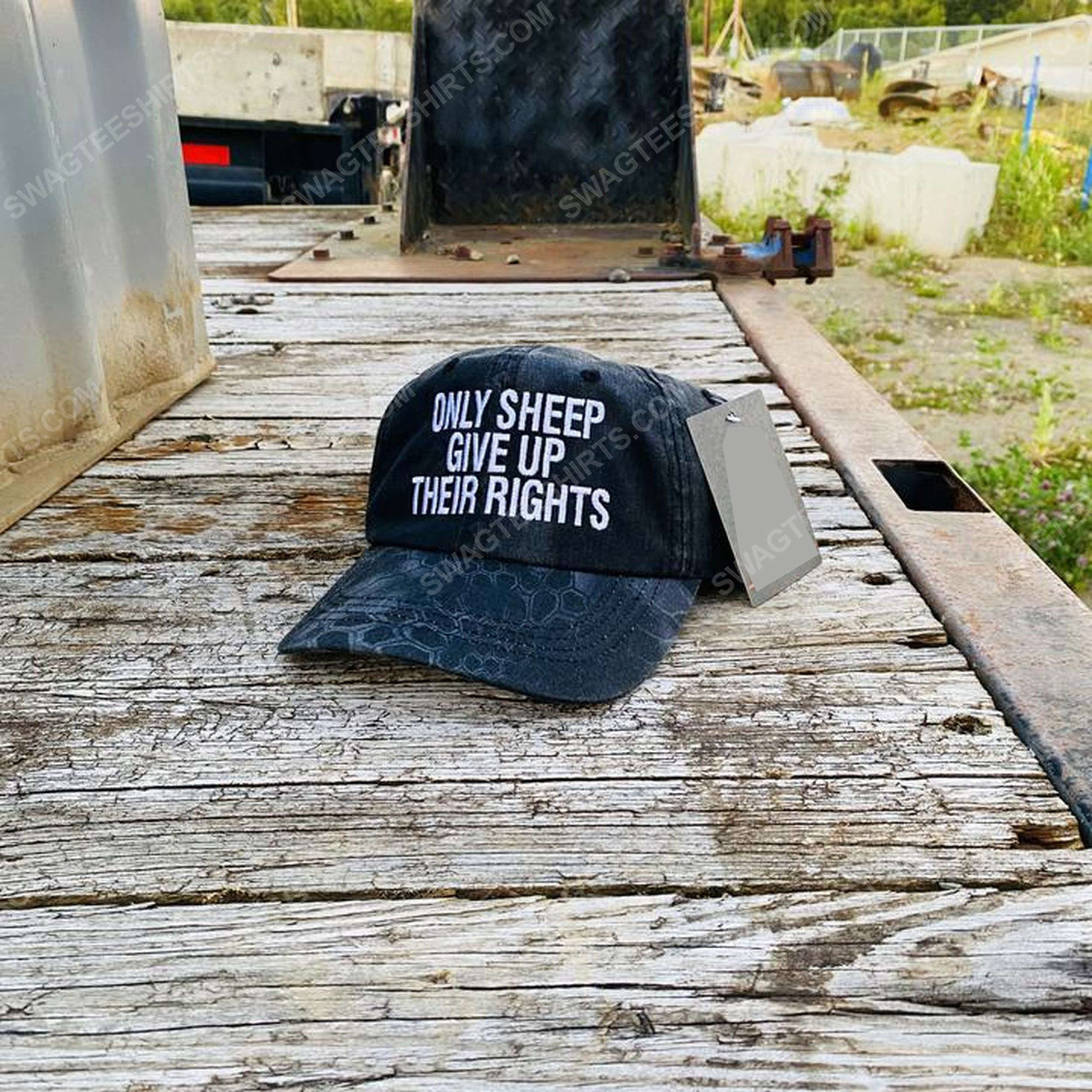 Only sheep give up their rights full print classic hat 1 - Copy