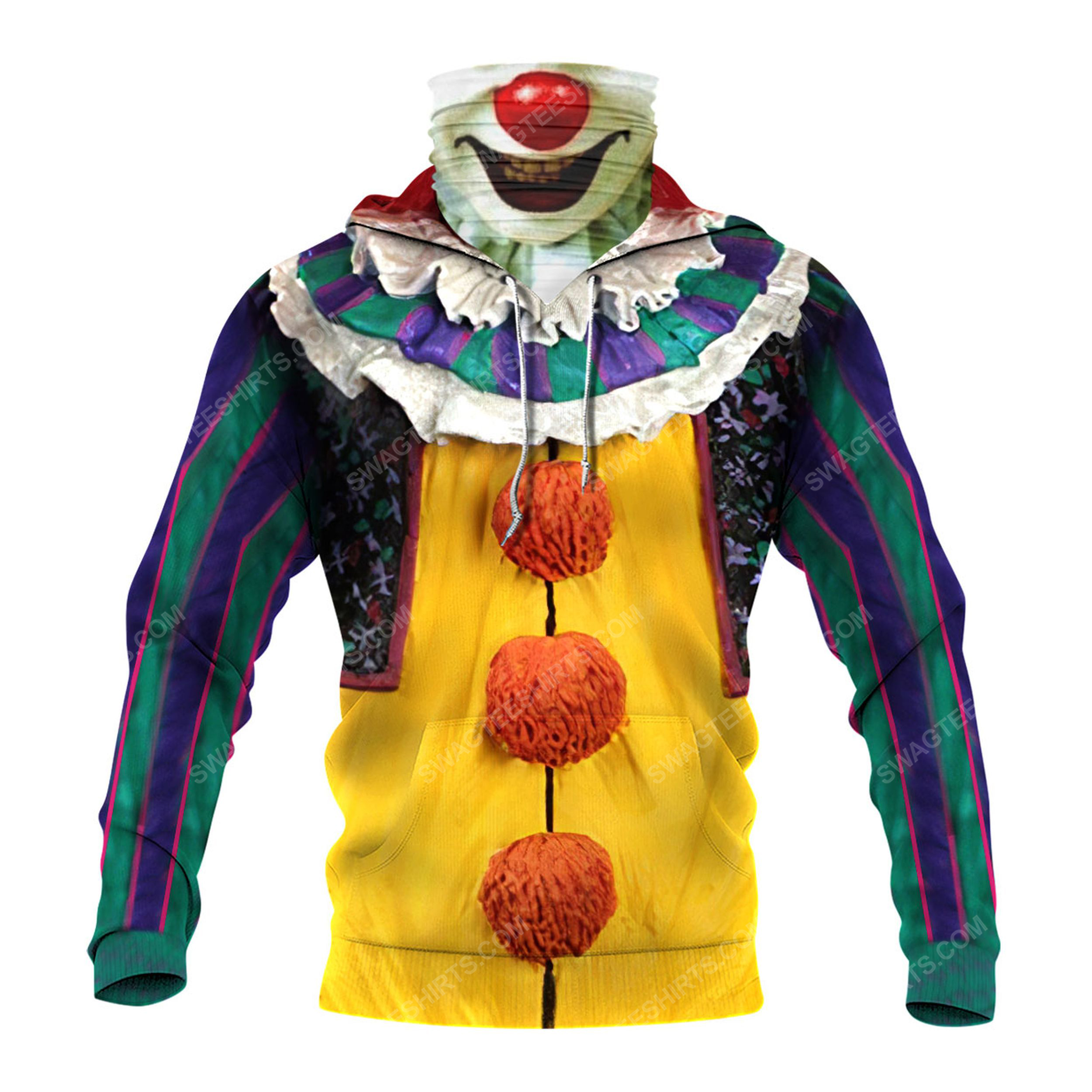 Pennywise the dancing clown for halloween full print mask hoodie 3(1)